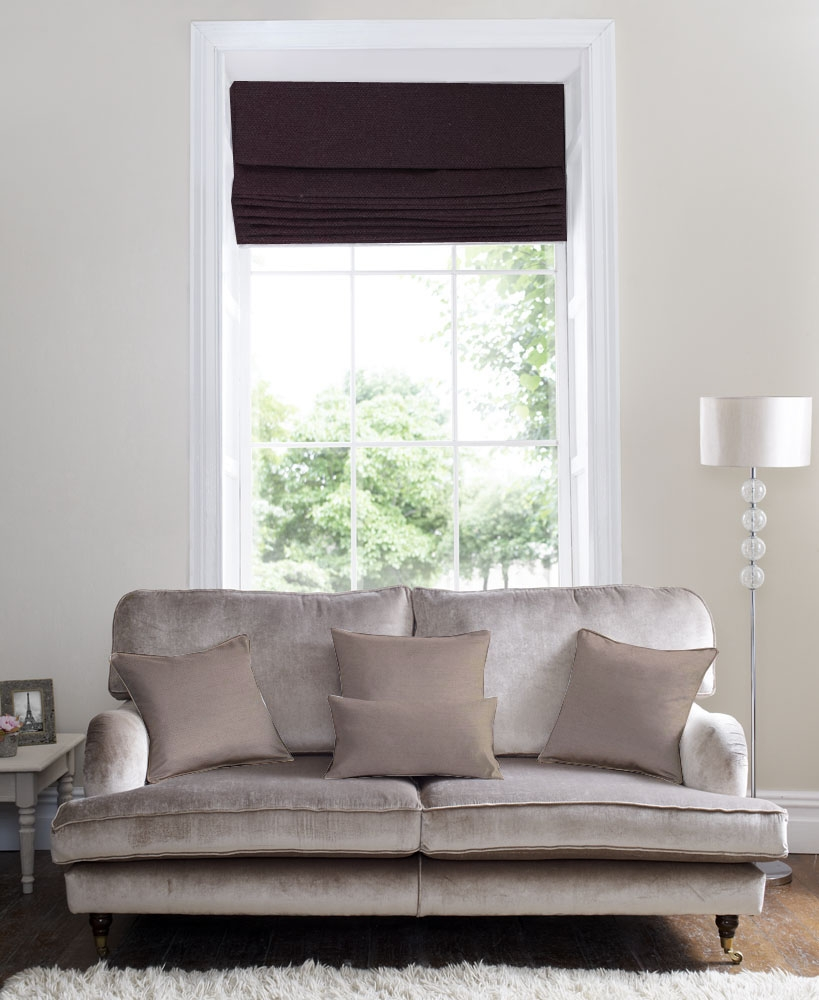 Roman Blinds Mswoodenblinds Intended For Black Roman Blinds (View 5 of 15)