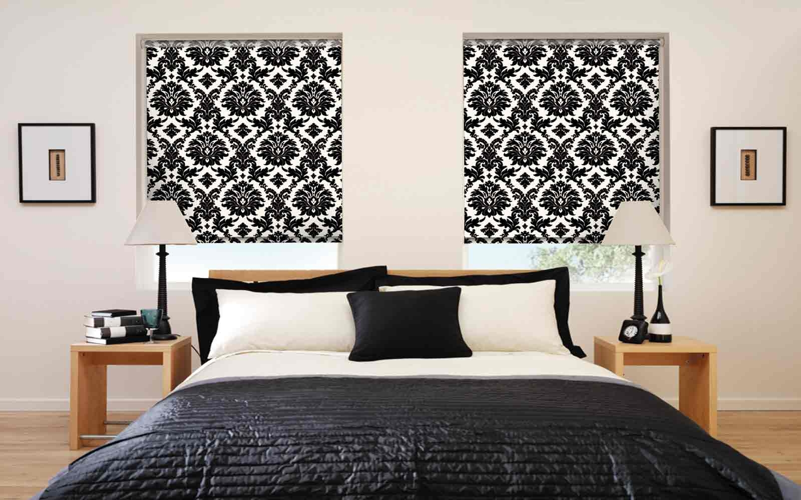 15 Best Ideas Black And White Roman Blinds Curtain Ideas