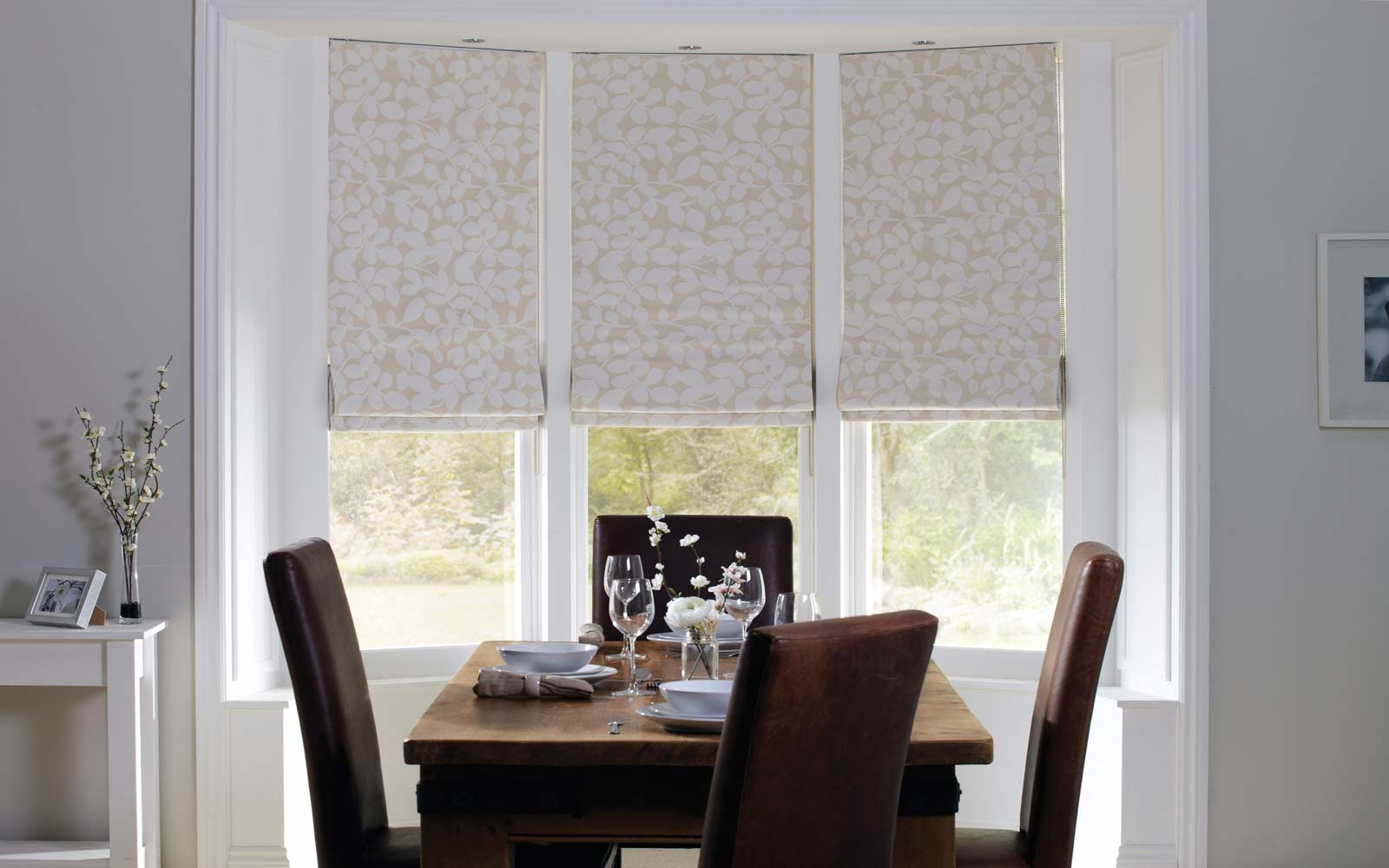 Roman Blinds Surrey Blinds Shutters Within Black And White Roman Blinds (Image 14 of 15)