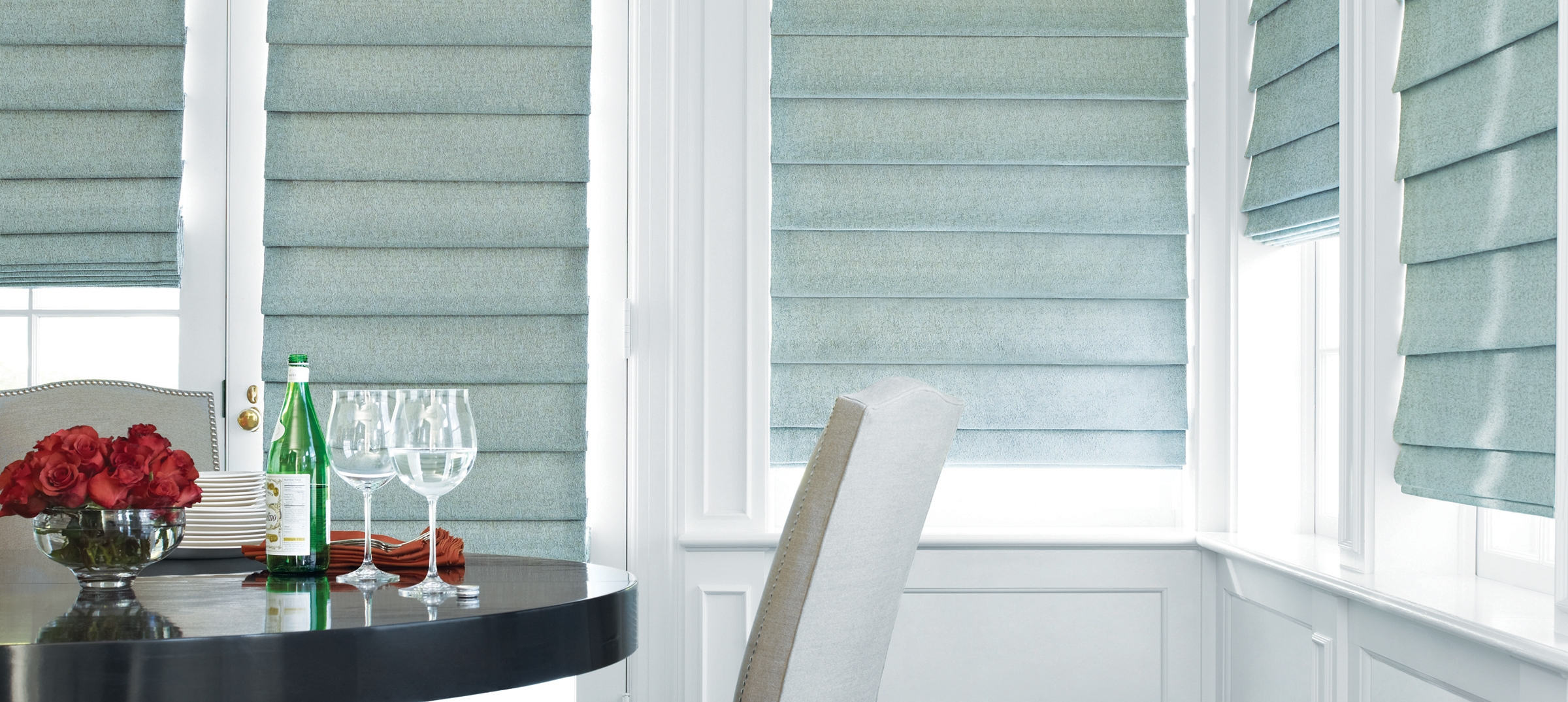 Roman Shades Design Studio Hunter Douglas Regarding Roman Fabric Blinds (Image 12 of 15)