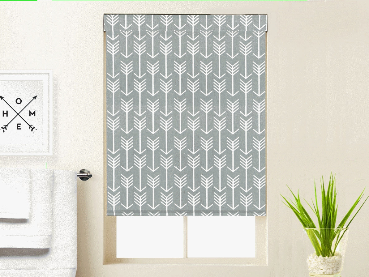 Roman Shades Etsy In Gingham Roman Blinds (View 15 of 15)