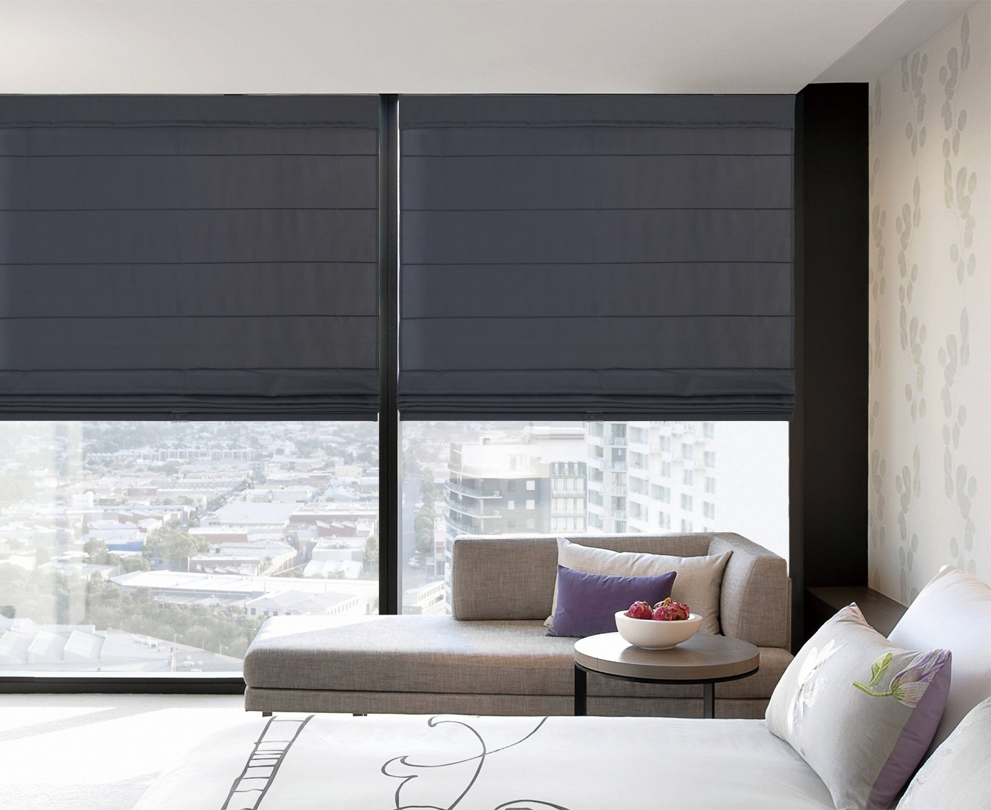 Roman Shades For Every Dcor At Blinds With Custom Roman Blinds (Image 13 of 15)