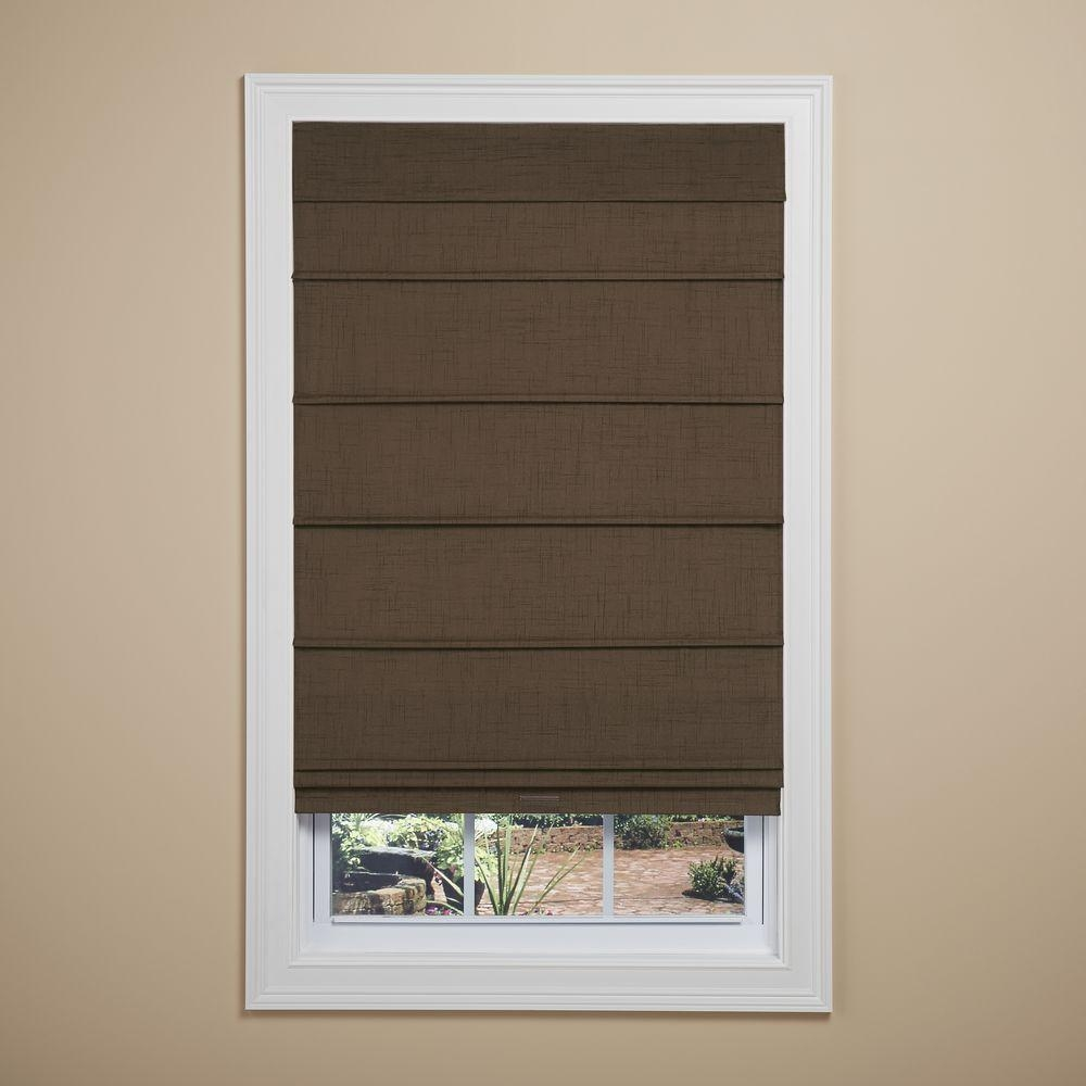 Roman Shades Shades The Home Depot Inside Blackout Roman Blind (Image 14 of 15)