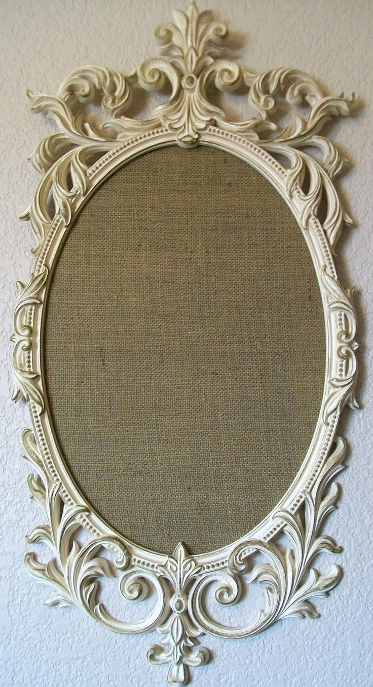 Romantic Ornate Vintage Baroque Frame Magnetic Memo Board Within Ornate Vintage Mirror (Image 11 of 15)