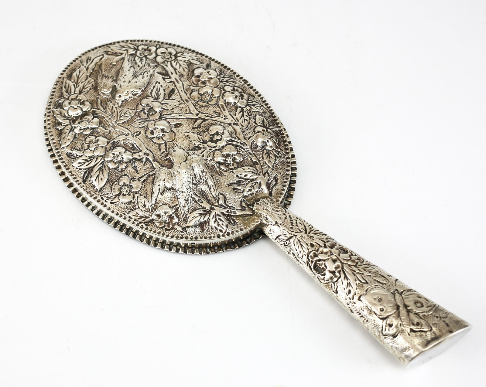 Rosenthal Jacob Co Birmingham Sterling Silver Hand Mirror 1882 Inside Mirrors In Birmingham (Image 13 of 15)