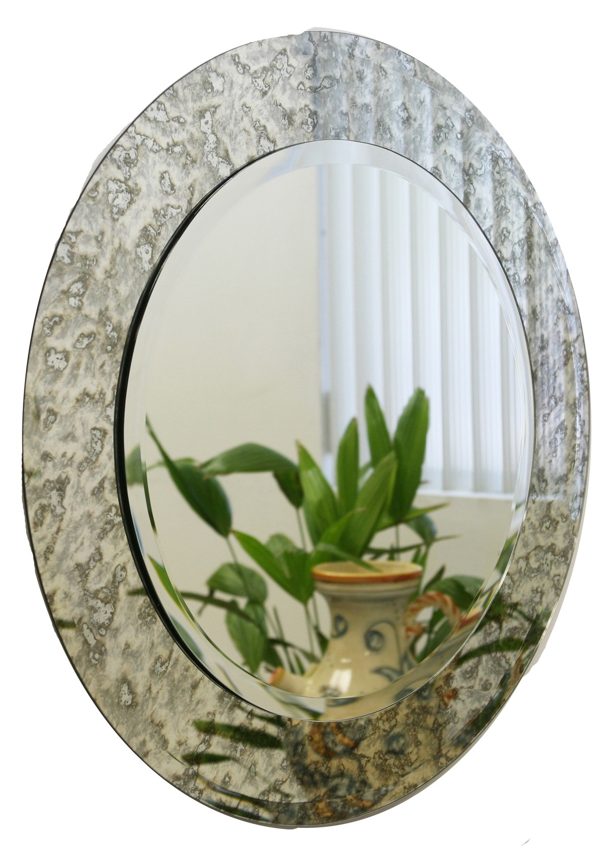 Round Antique Mirrors Vintage Antiqued Mirrors Within Round Antique Mirror (Image 10 of 15)