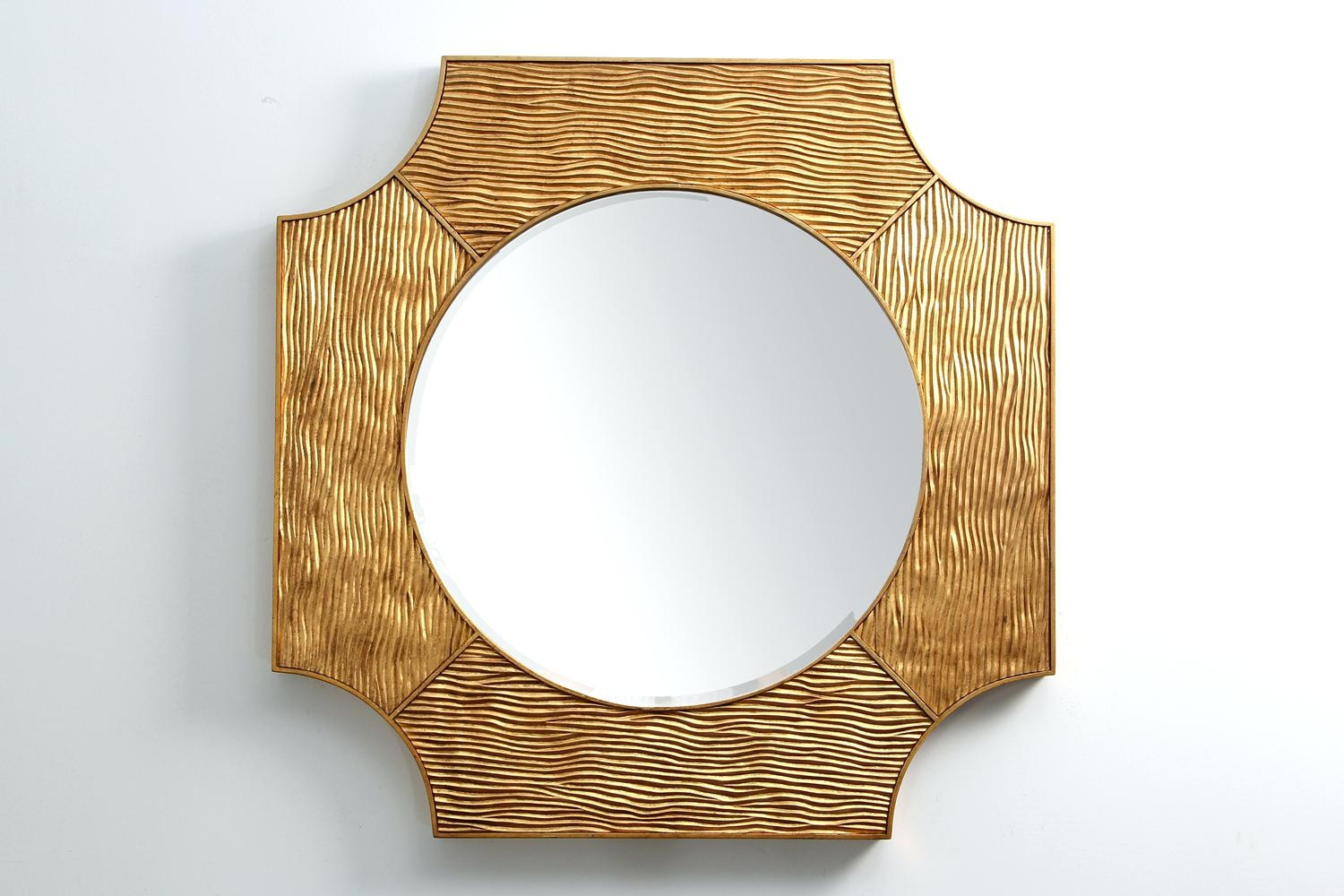 Round Contemporary Mirror Modern Gold For Home Interior Designers Within Modern Gold Mirror (Image 13 of 15)