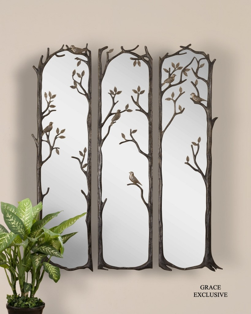 Round Decorative Mirror Wall Inside Home Decor Decorative Wall Throughout Fancy Wall Mirrors (Image 13 of 15)