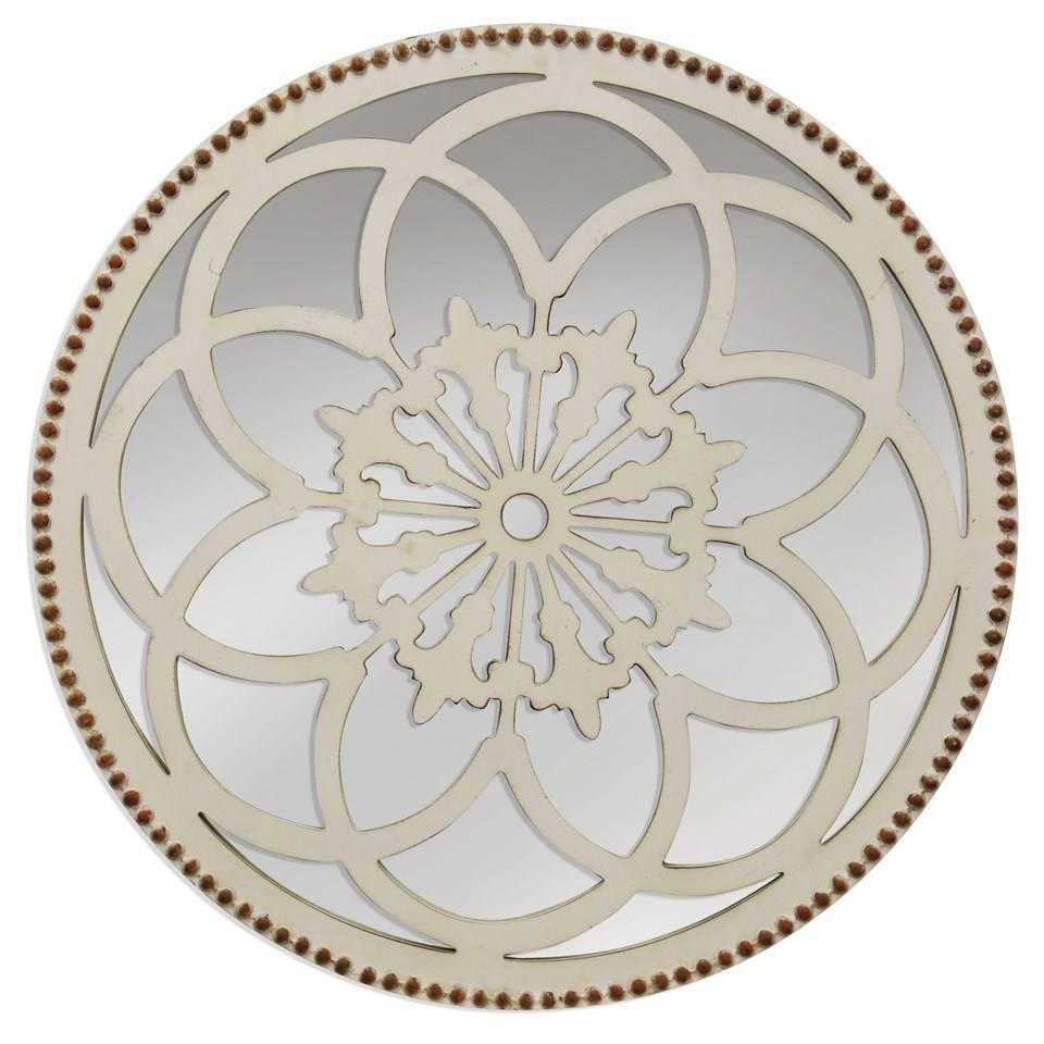 Round Flower Mirror Beckmans Regarding Round Antique Mirror (Image 11 of 15)