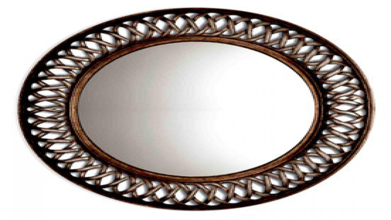 Round Framed Mirror Oil Rubbed Bronze Framed Wall Mirror Antique Regarding Bronze Wall Mirrors (Image 7 of 15)