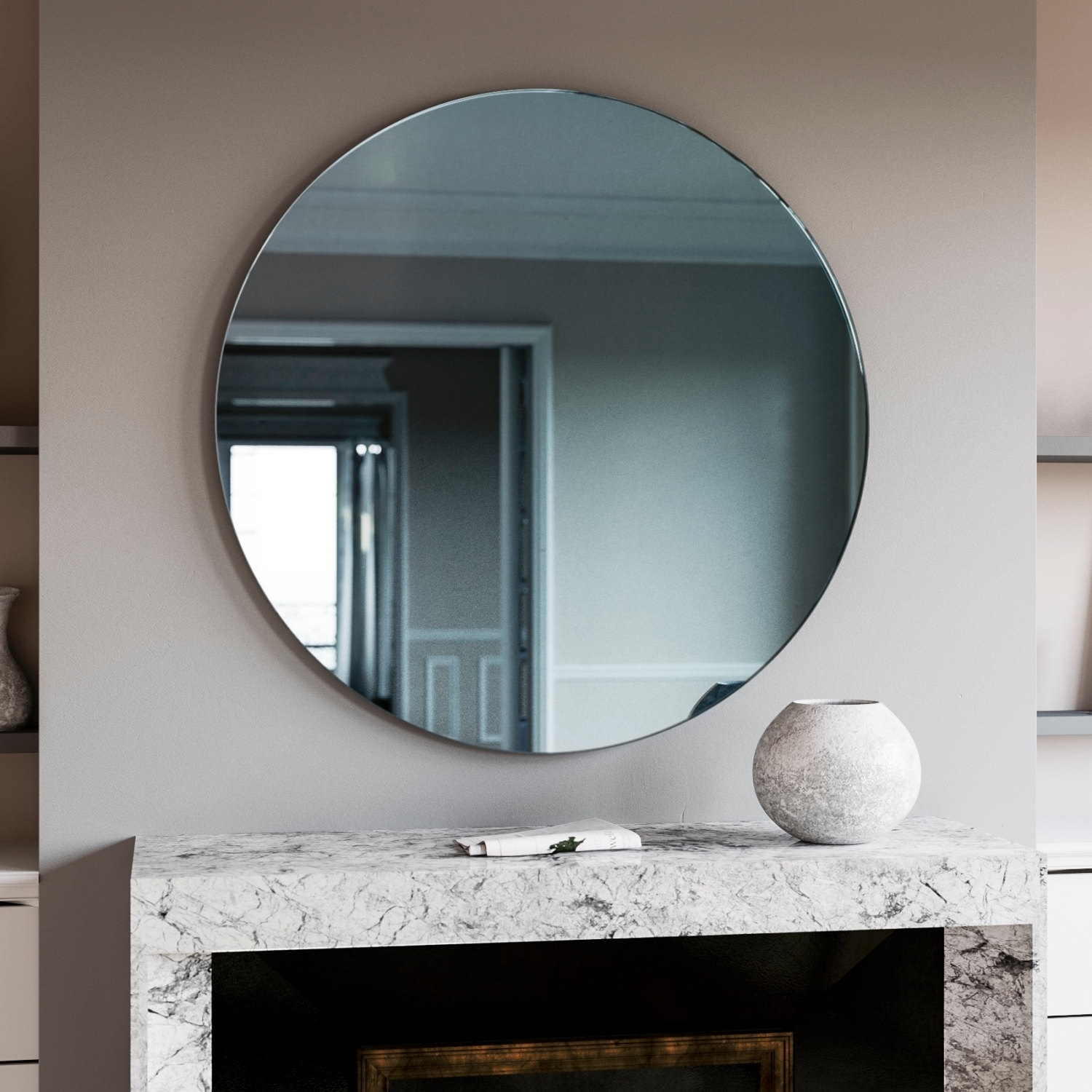 Featured Image of Blue Round Mirror