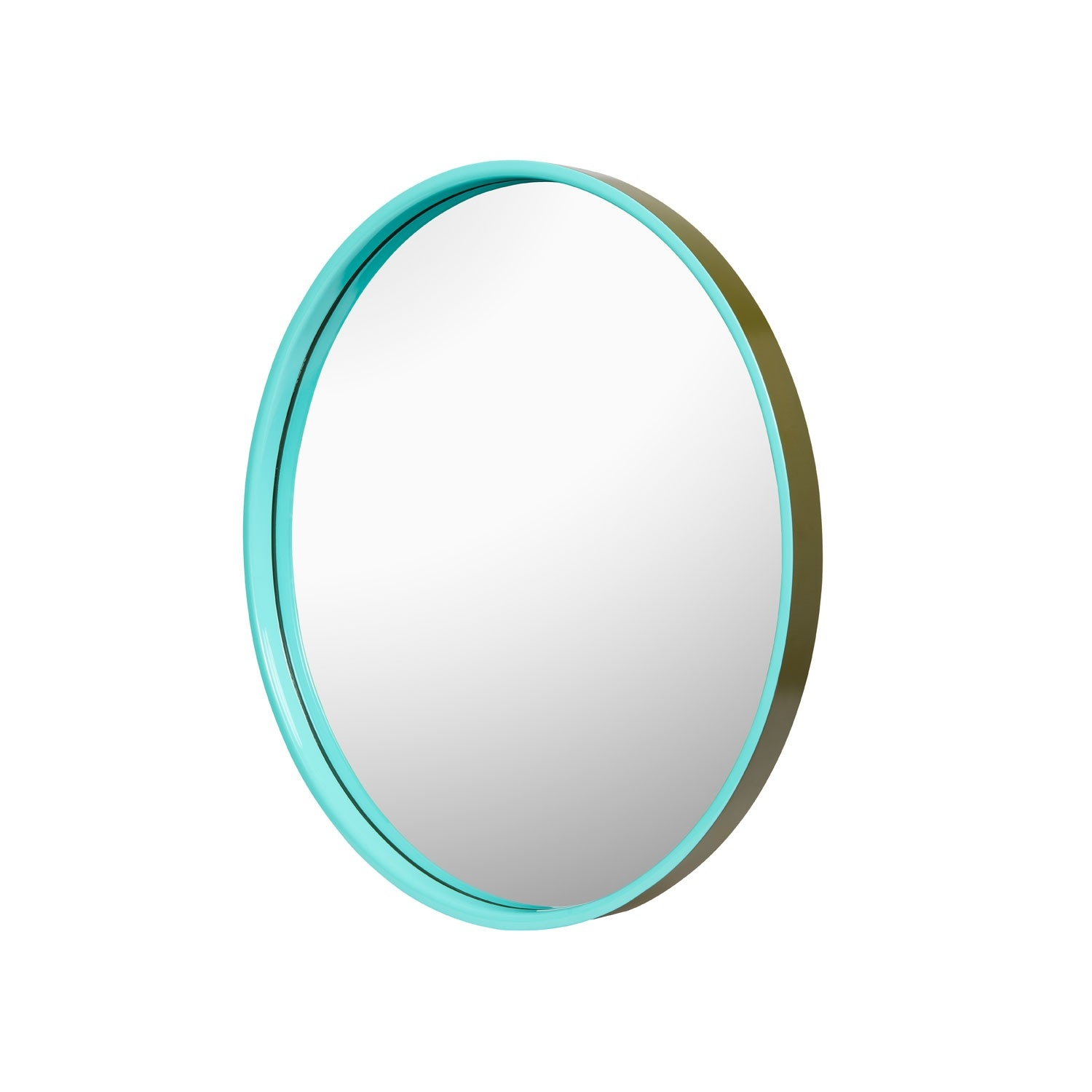 Round Mirror Olive Green Tiffany Blue With Regard To Blue Round Mirror (Image 12 of 15)