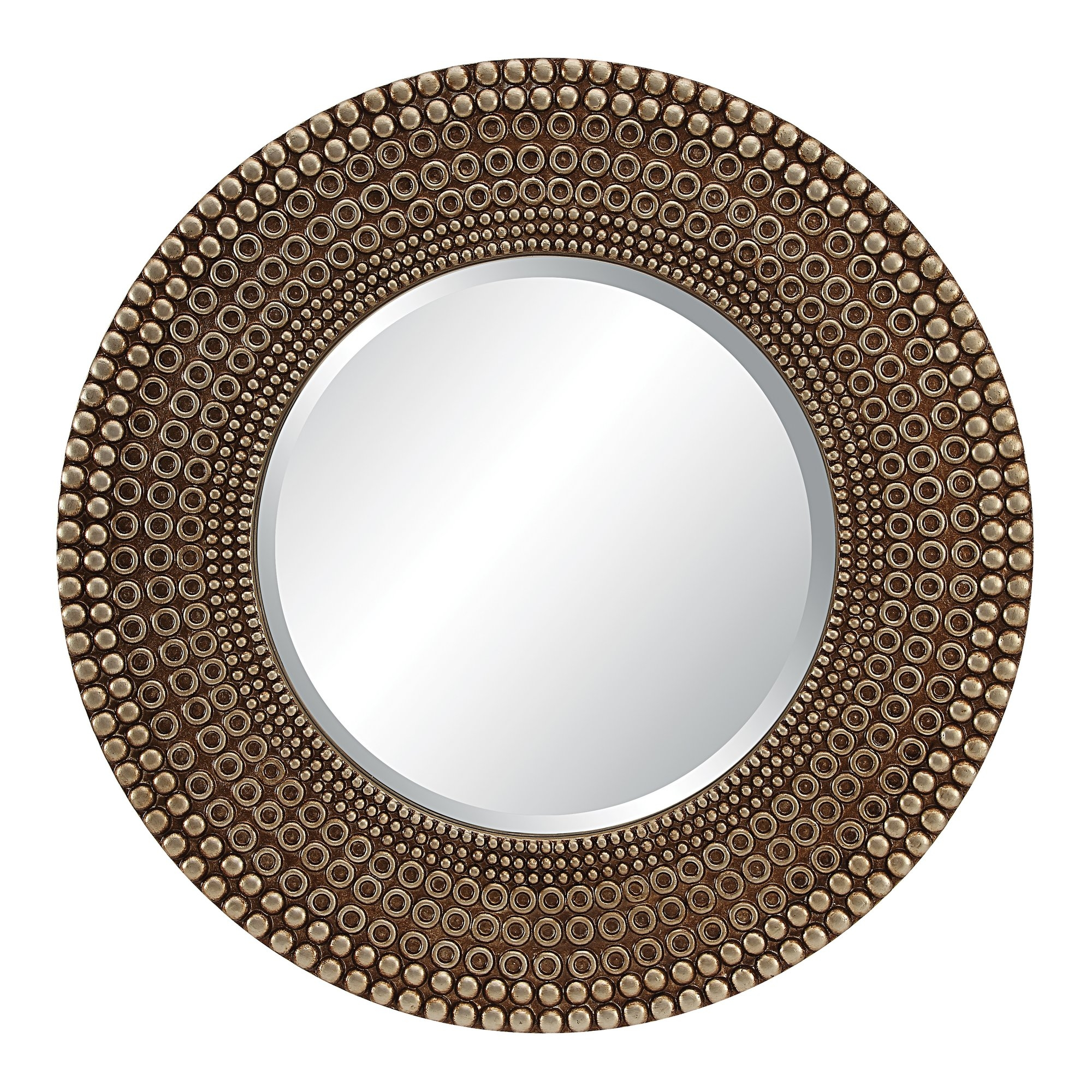 Round Mirrors Youll Love Wayfair In Large Round Wooden Mirror (Image 9 of 15)