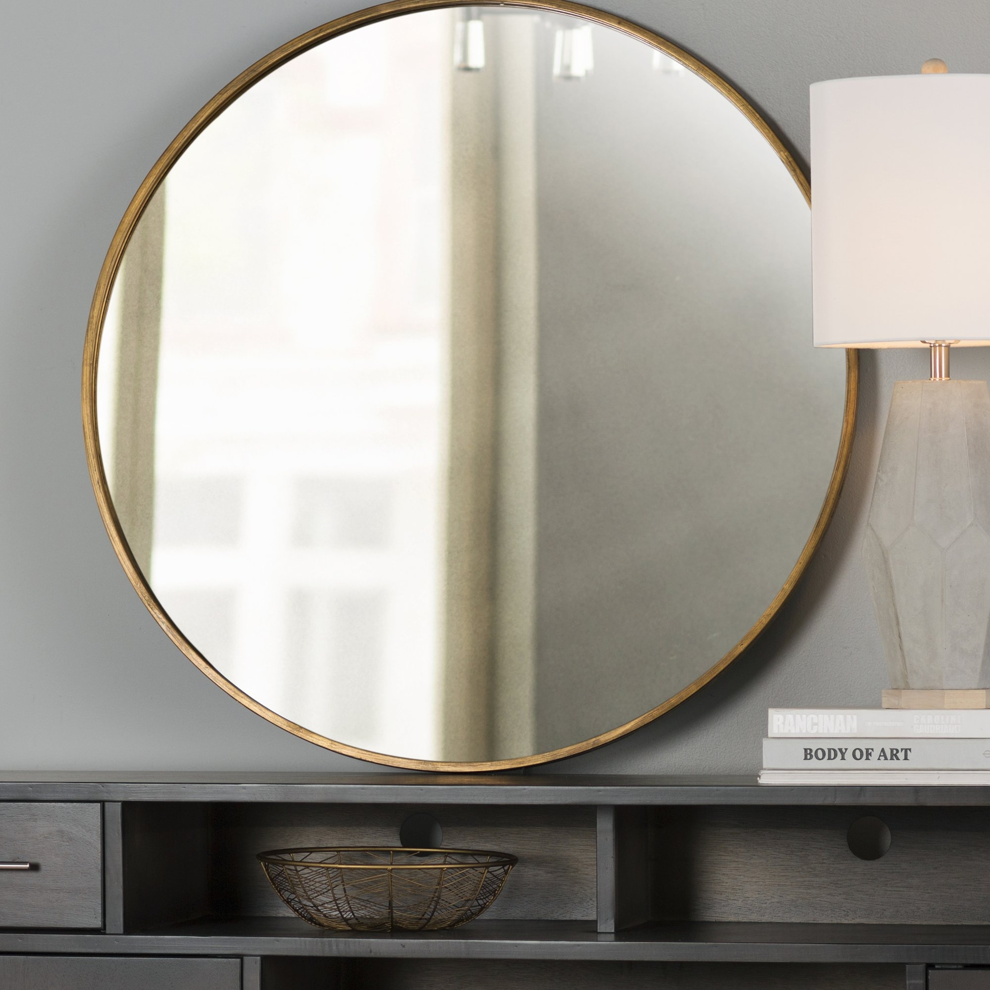 Round Mirrors Youll Love Wayfair Within Large Circular Mirrors (Image 15 of 15)