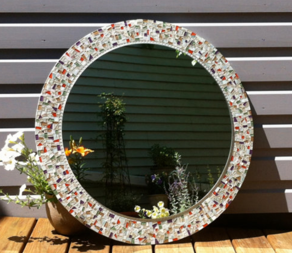 Round Mosaic Wall Mirror Pertaining To Round Mosaic Wall Mirror (Image 13 of 15)