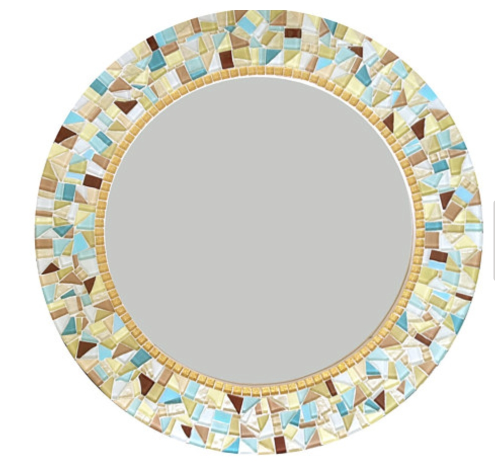 Round Mosaic Wall Mirror Throughout Round Mosaic Wall Mirror (Image 15 of 15)
