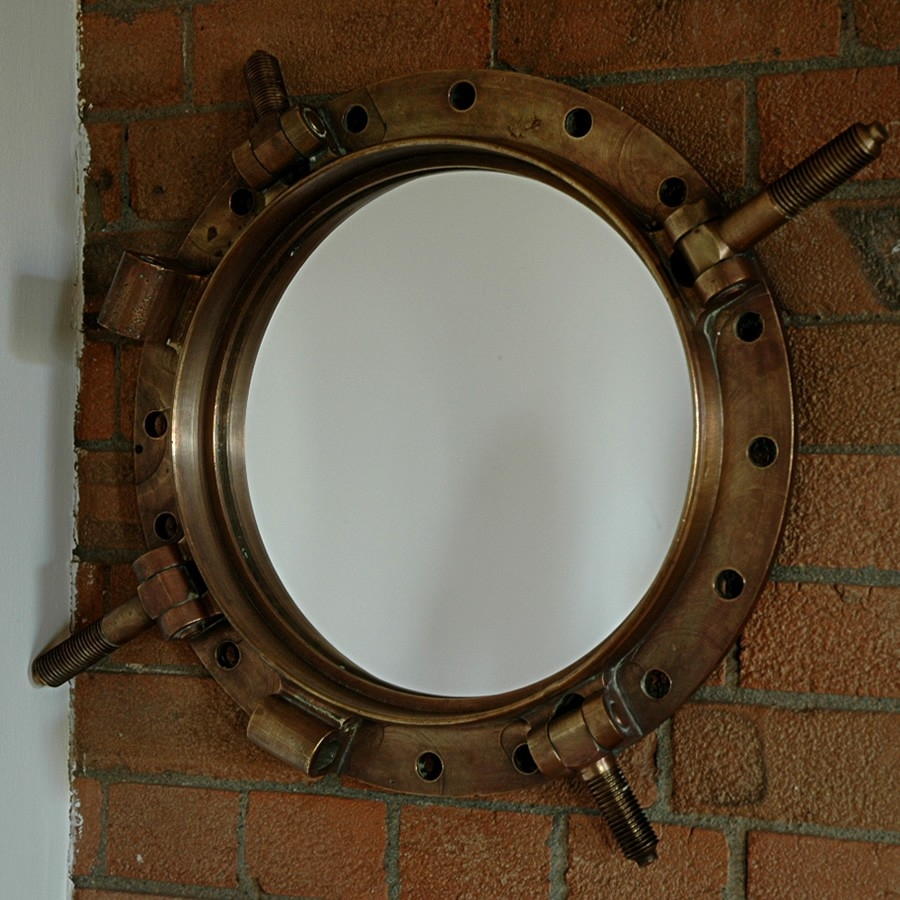Round Porthole Mirror Decor Intended For Round Porthole Mirror (Image 9 of 15)