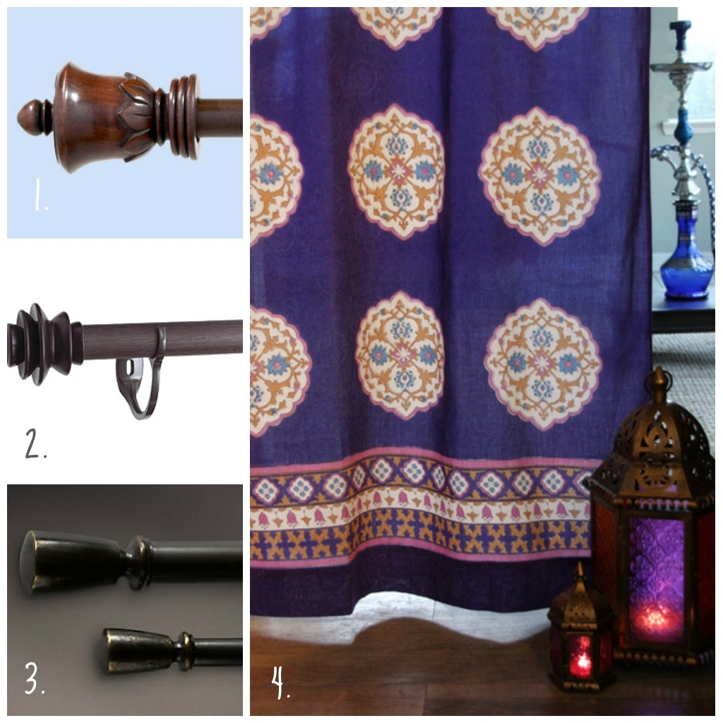 Round Up Unique Finials And Curtain Rods Saffron Speak In Morrocan Curtains (Image 11 of 15)