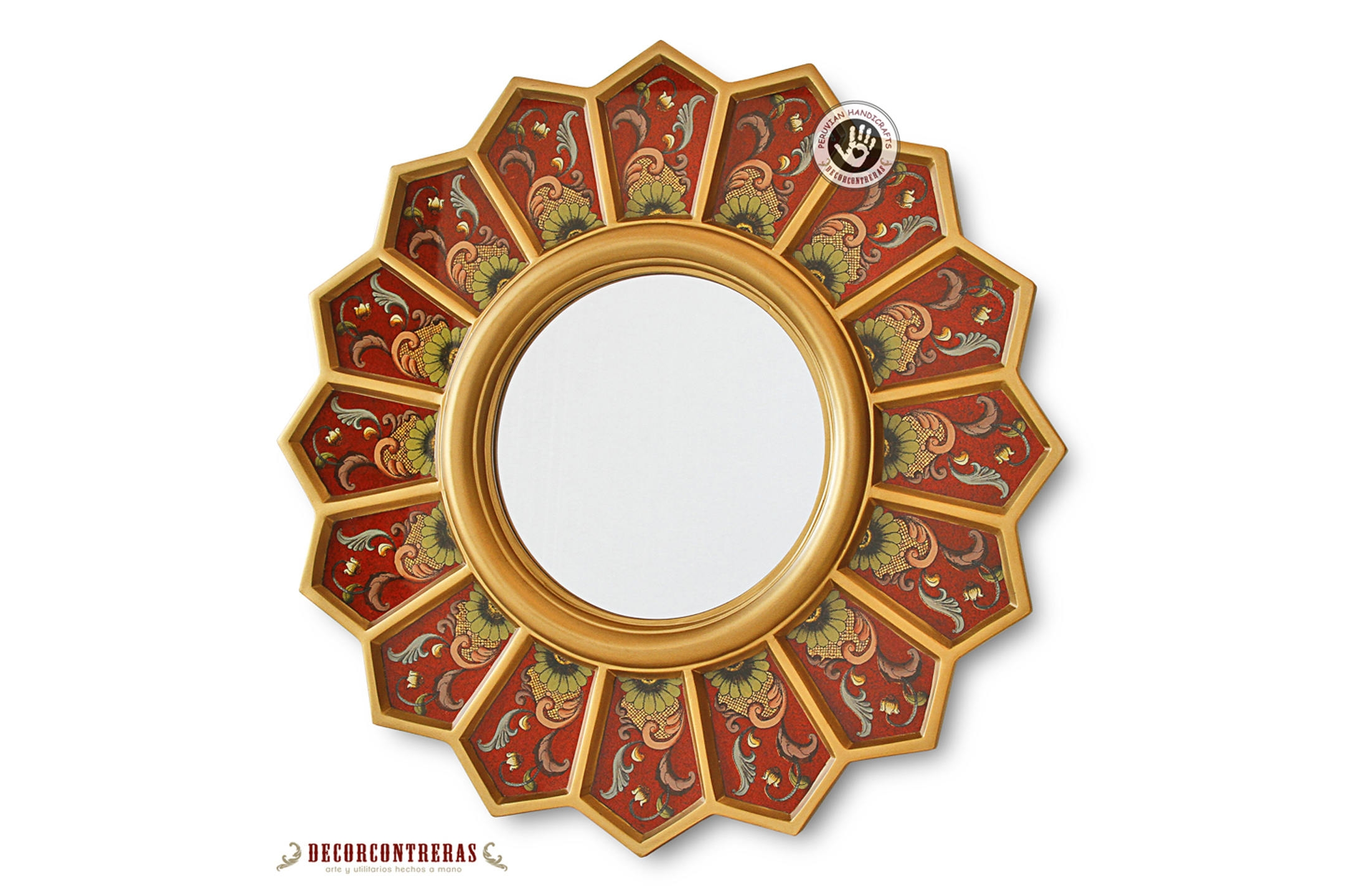 Round Wall Mirror Etsy In Convex Wall Mirrors (View 13 of 15)