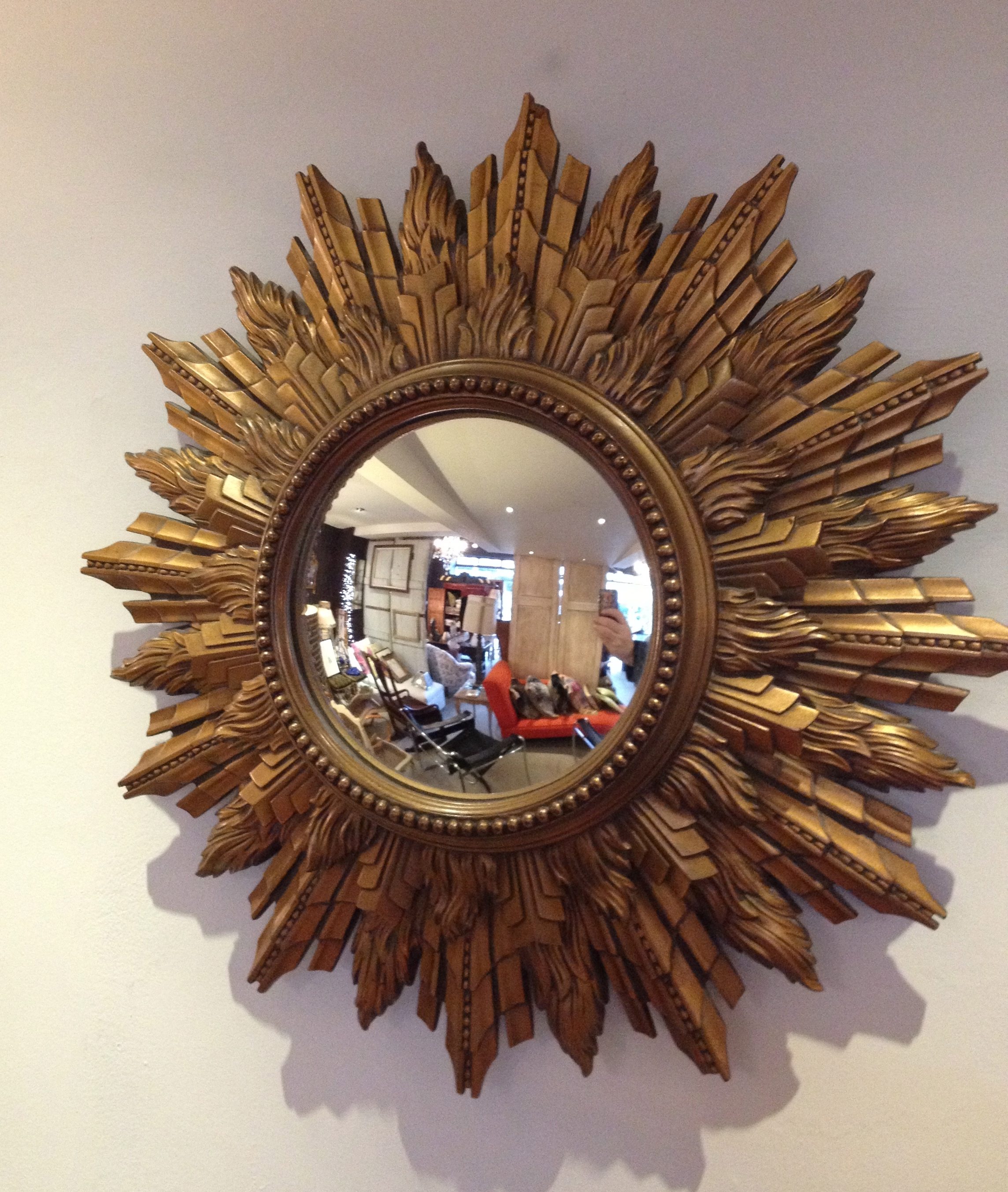 Round Wall Mirrors Decorative Inarace Pertaining To Large Sunburst Mirrors For Sale (Image 8 of 15)