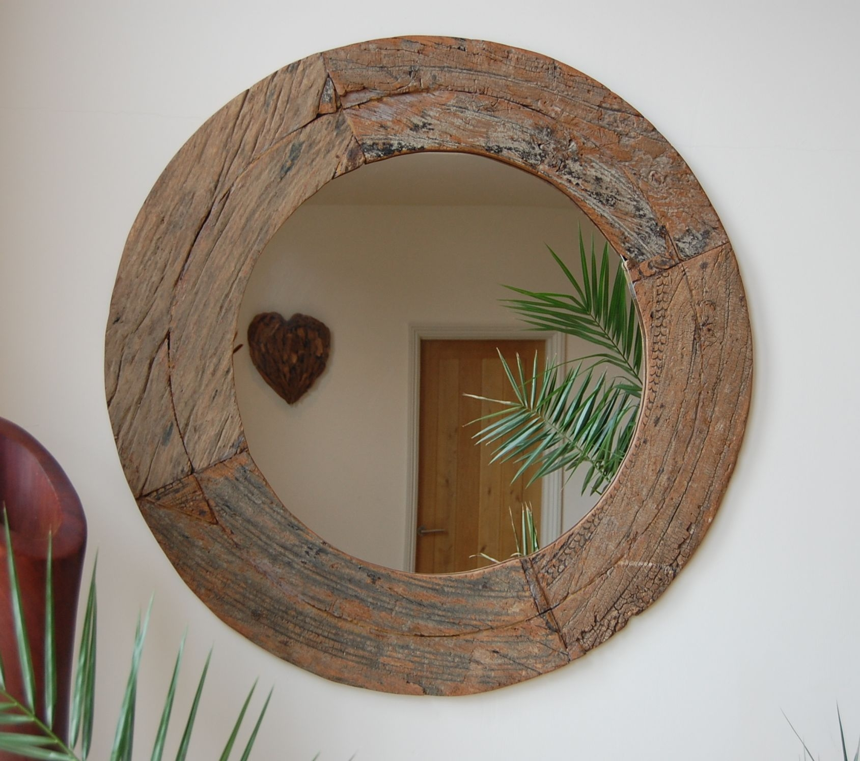 Round Wood Mirror From Wowpieces Mirrors Pinterest Skogar Within Large Round Wooden Mirror (Image 10 of 15)