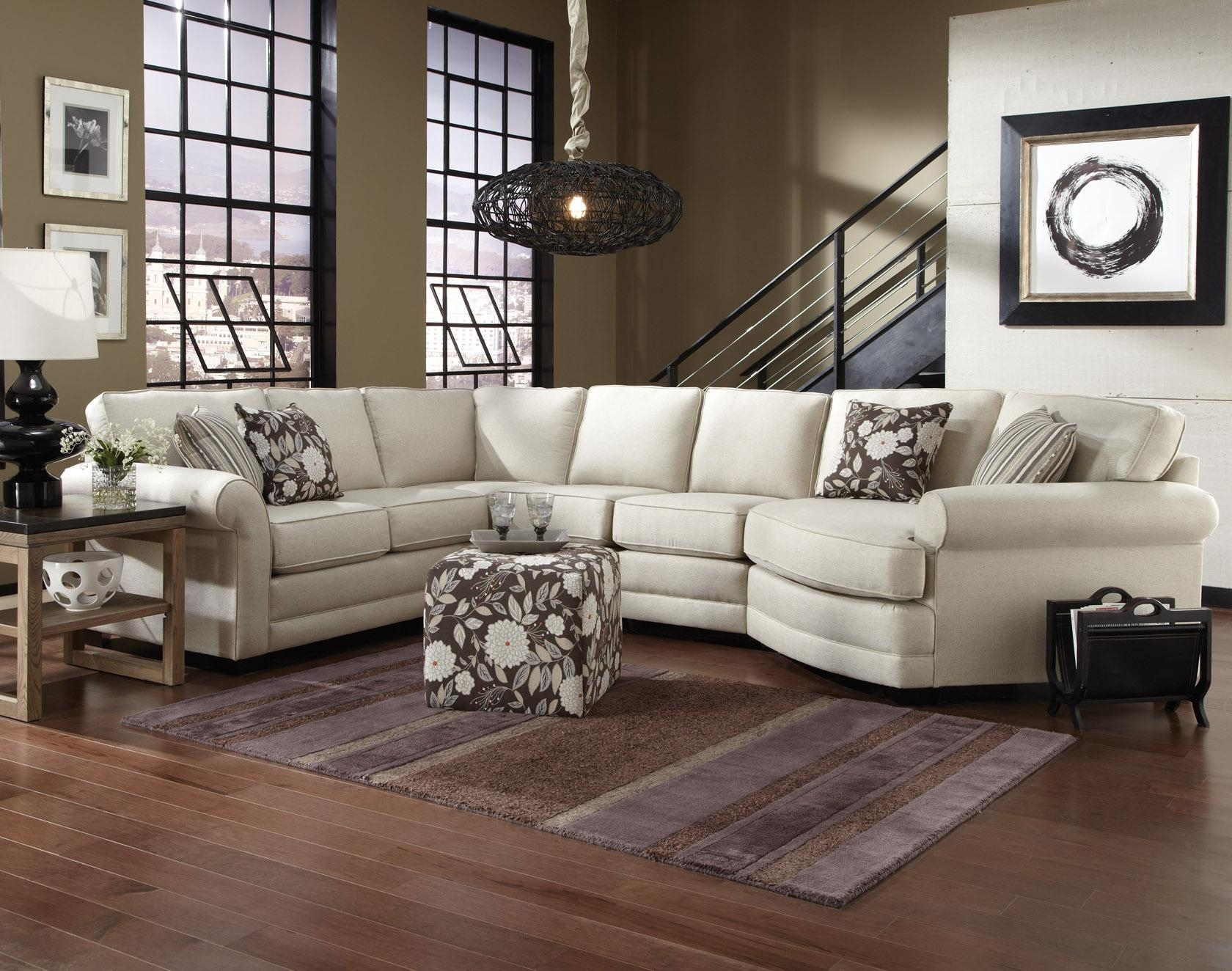 Rowe My Style I Ii Transitional Sectional Sofa With Turned Legs Throughout 7 Seat Sectional Sofa (Image 13 of 15)