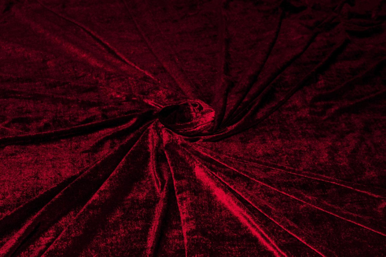 Royal Red Velvet Fabric Deep Red Velvet Half 12 Yard Maroon Throughout Dark Red Velvet Curtains (Image 11 of 15)