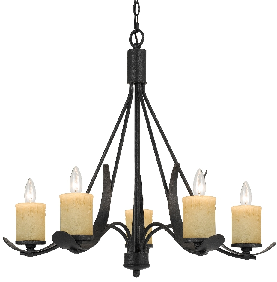 Rustic 5 Candle Light Blacksmith Iron Chandelier Lamp Shade Pro In Iron Chandelier (Image 12 of 15)