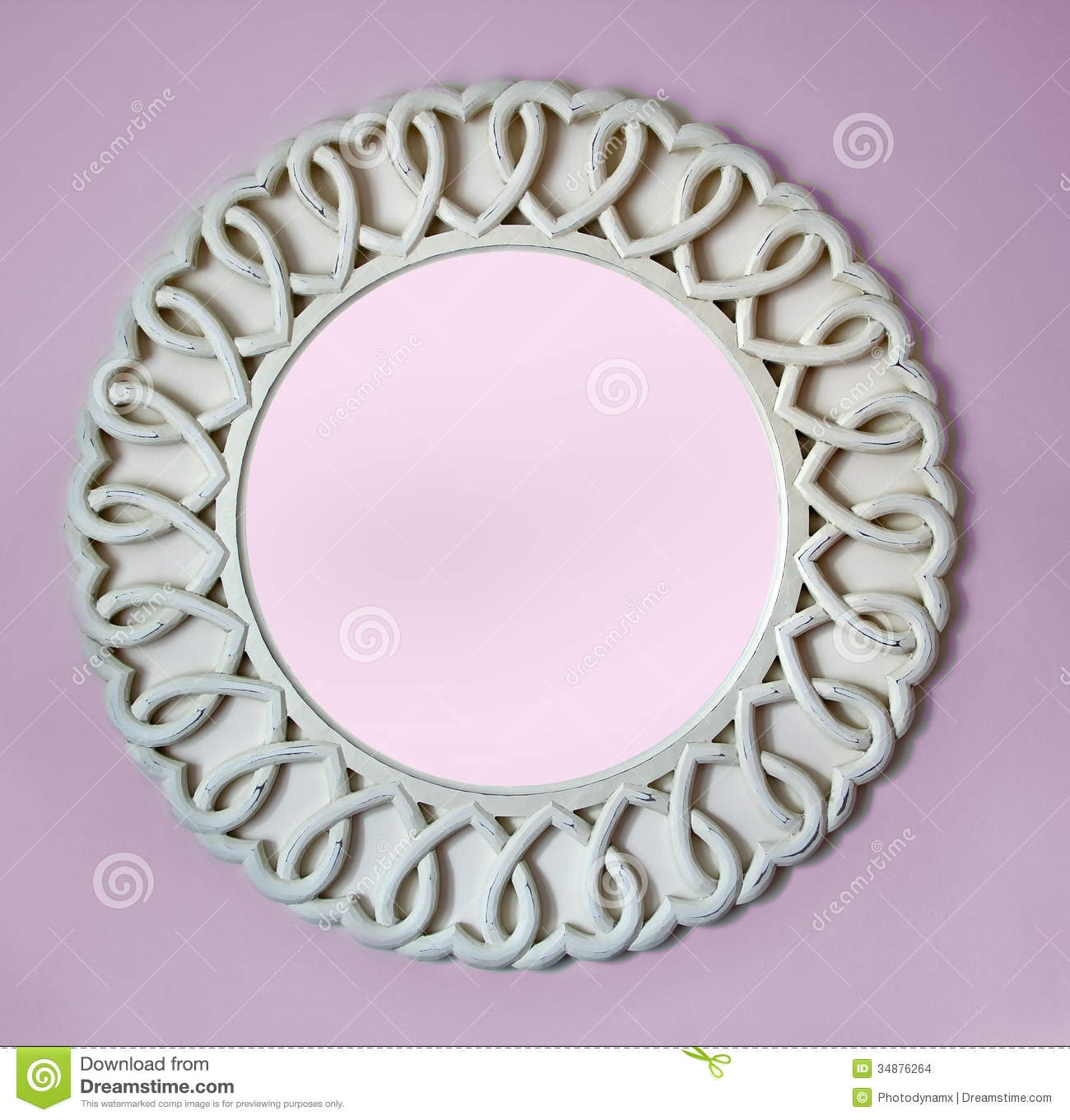 Featured Image of Round Shabby Chic Mirror