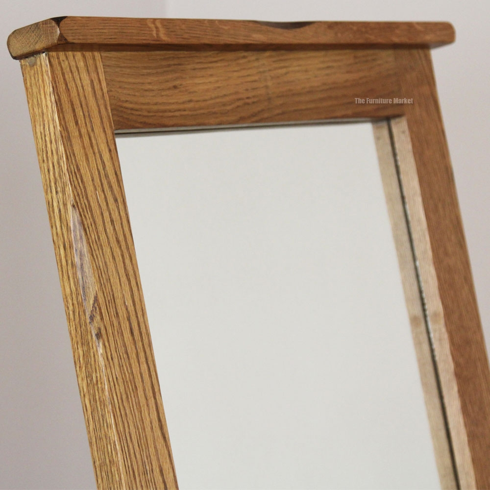 Rustic Oak Cheval Mirror With Regard To Rustic Oak Mirror (Image 12 of 15)