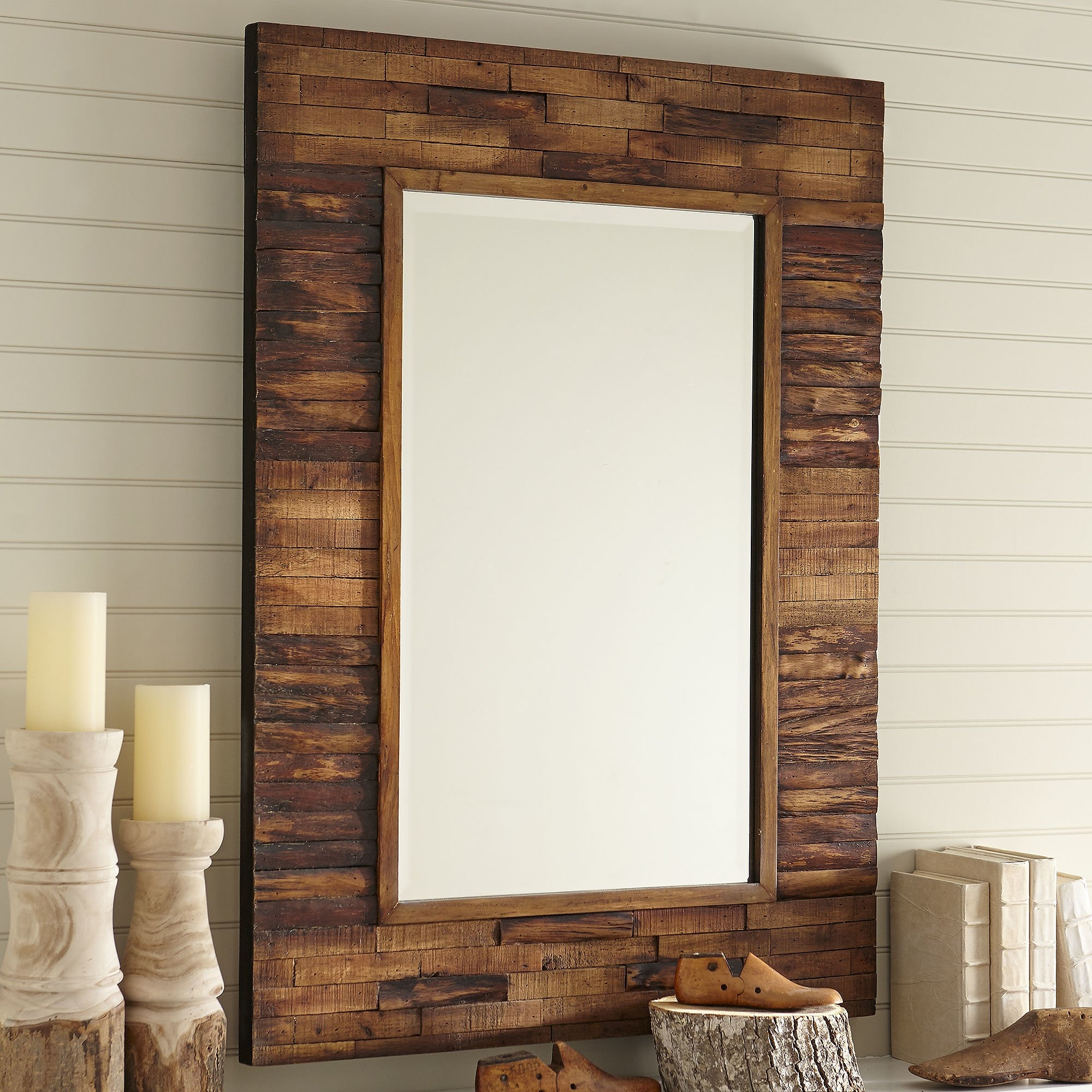 Rustic Wall Mirrors Youll Love Wayfair Intended For Old Mirrors For Sale (Image 13 of 15)