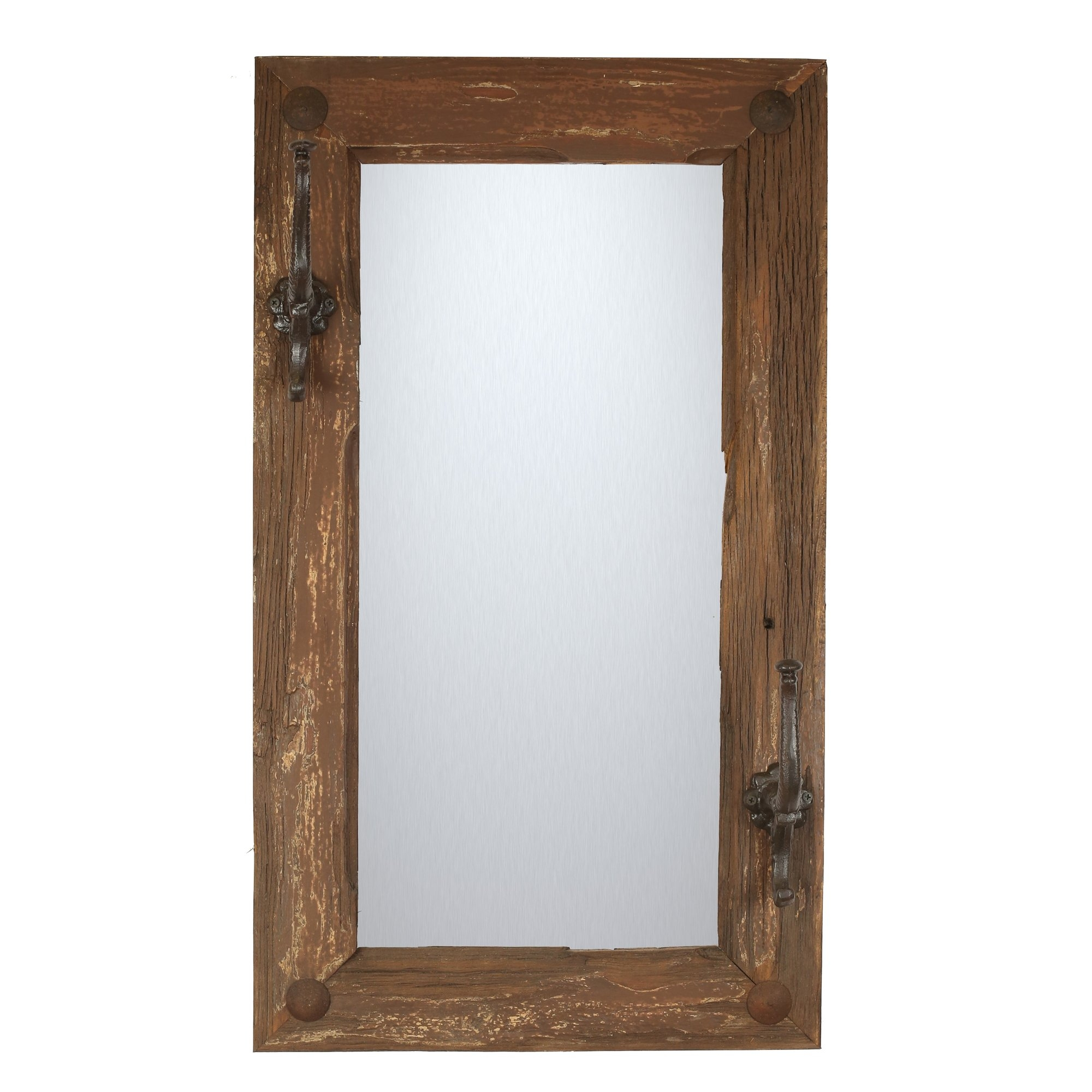 Rustic Wall Mirrors Youll Love Wayfair With Leather Mirrors Wall (Image 13 of 15)