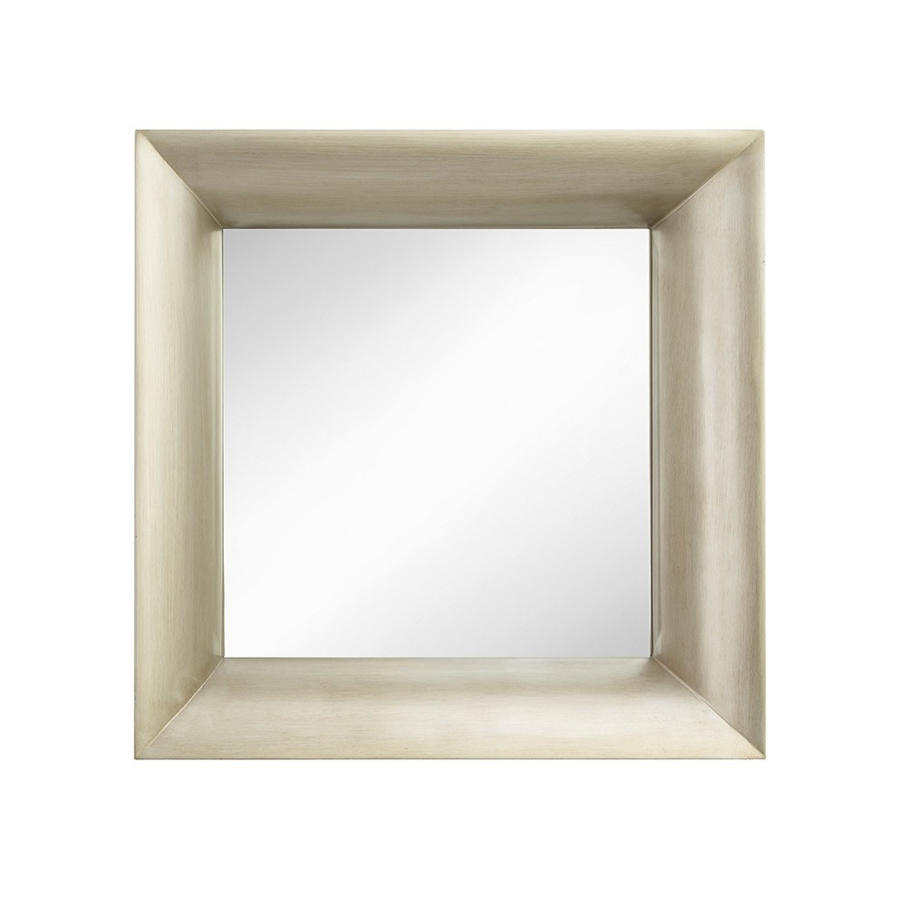 Rv Astley Halse Champagne Silver Square Wall Mirror Houseology Within Champagne Silver Mirror (View 10 of 15)