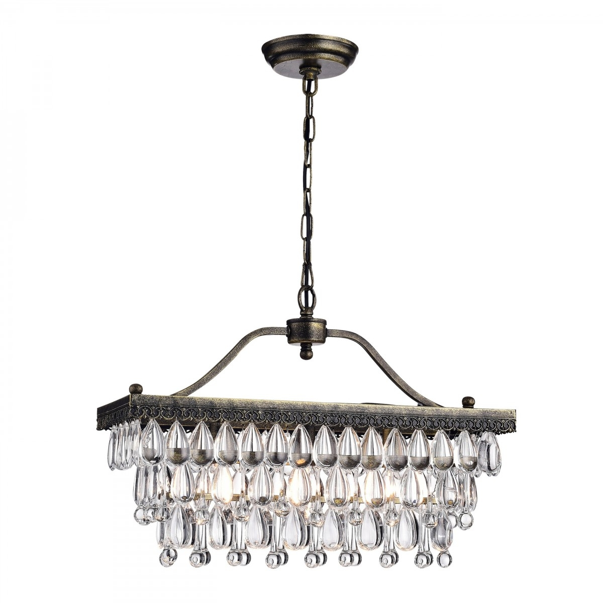 Sahara Astounding Luxury Crystal Glass 3 Light Antique Copper With Regard To Copper Chandeliers (Image 14 of 15)