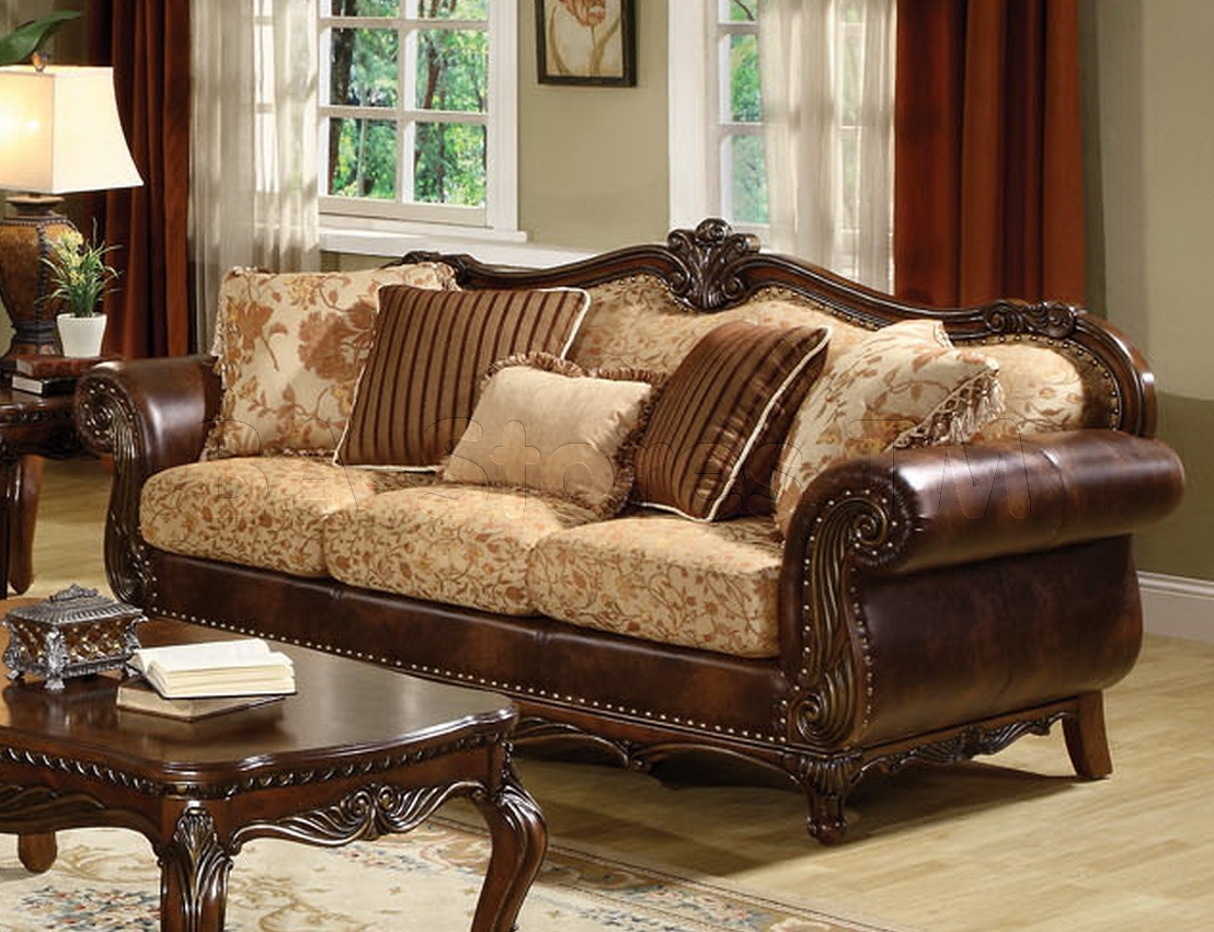 Sale 433600 Remington Traditional 3 Pc Bonded Leather And For Elegant Fabric Sofas (Image 15 of 15)