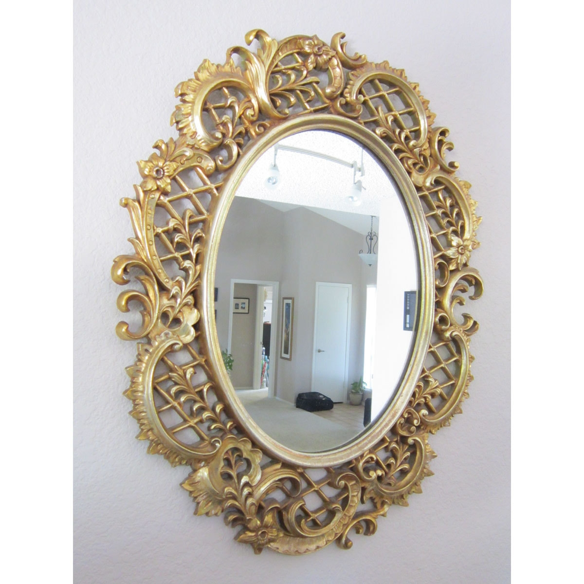 Sale Vintage Decorative Mirror Large Framed Mirror Circa Within Vintage Mirror For Sale (View 9 of 15)
