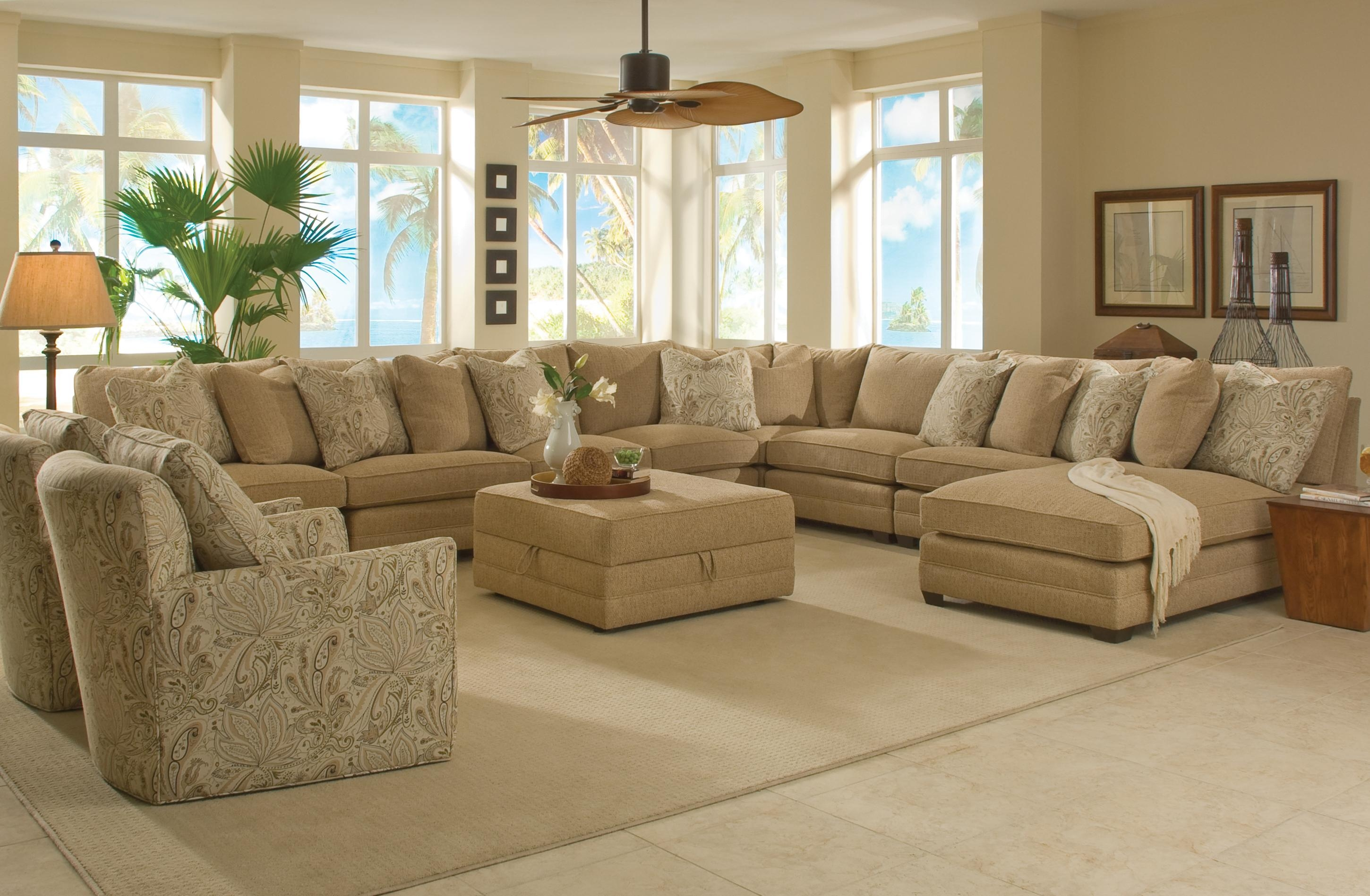 Beau Sam Moore Margo Wide Sectional Sofa Moores Home Furnishings Throughout Extra  Wide Sectional Sofas (Image