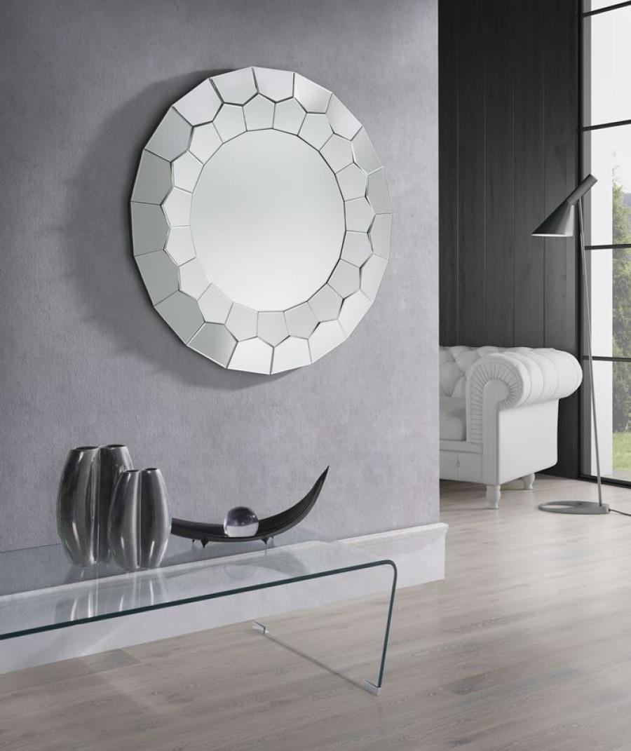Saturn Round Wall Mirror Home Accessories Contemporary Furniturre Pertaining To Modern Bevelled Mirror (View 9 of 15)