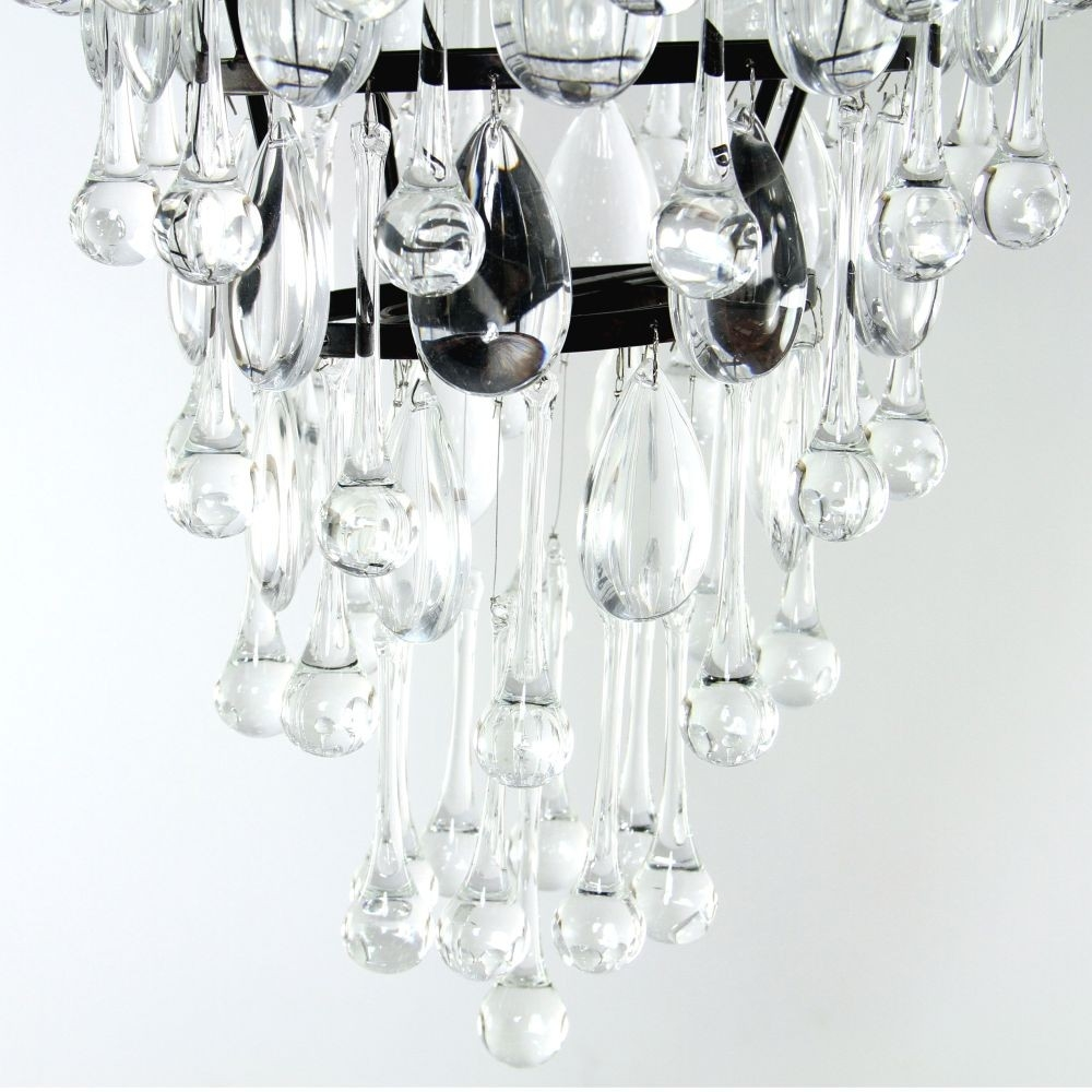 Savona Glass Droplet Chandelier Luxe With Regard To Glass Droplet Chandelier (Image 13 of 15)