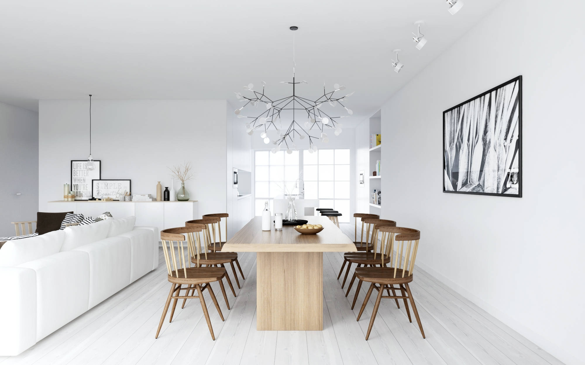 Scandinavian Dining Room Kitchentoday For Scandinavian Chandeliers (Image 14 of 15)