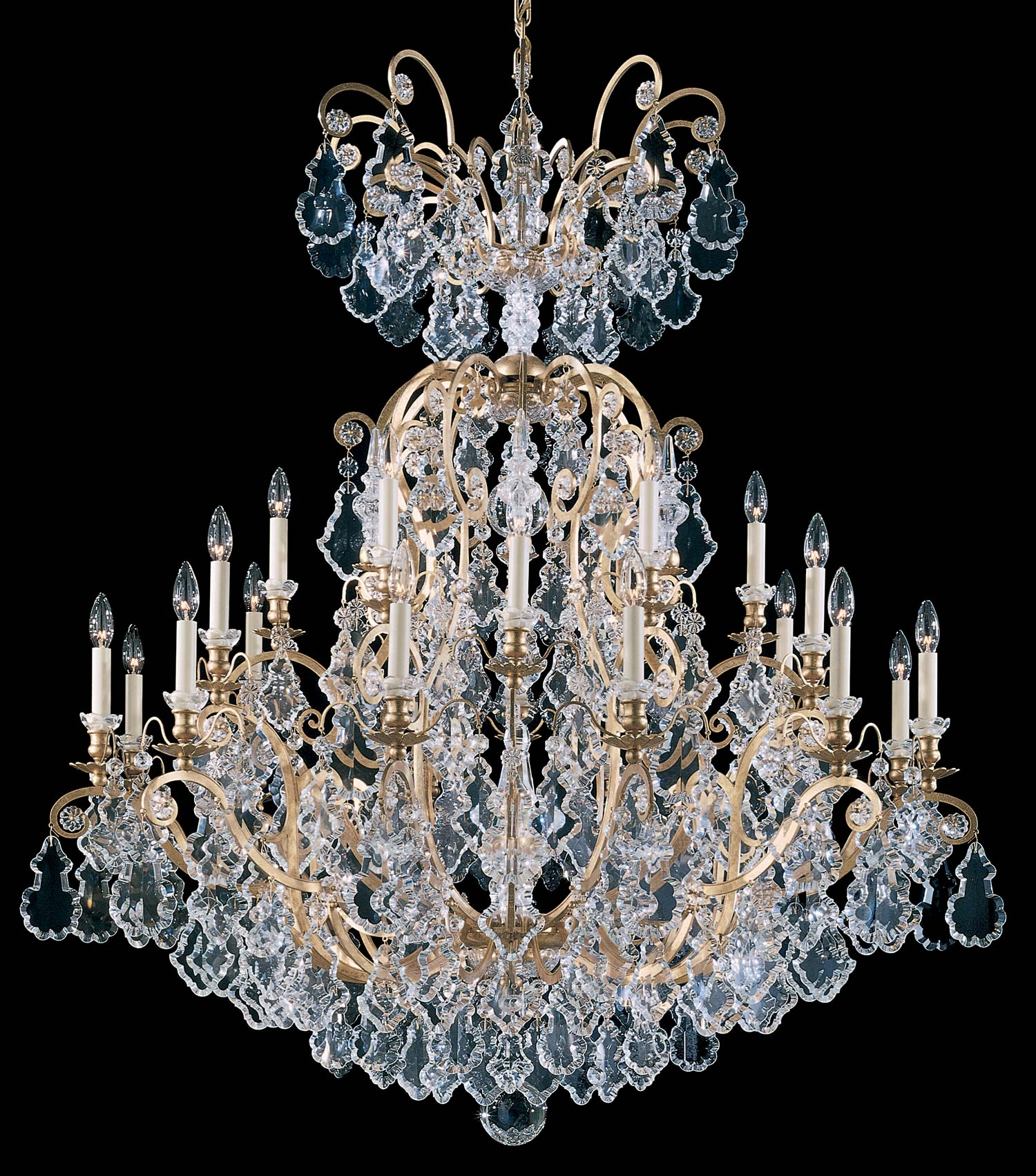 Schonbek 2780 Versailles Collection Chandelier Crystal Traditional Inside Baroque Chandelier (Image 13 of 15)