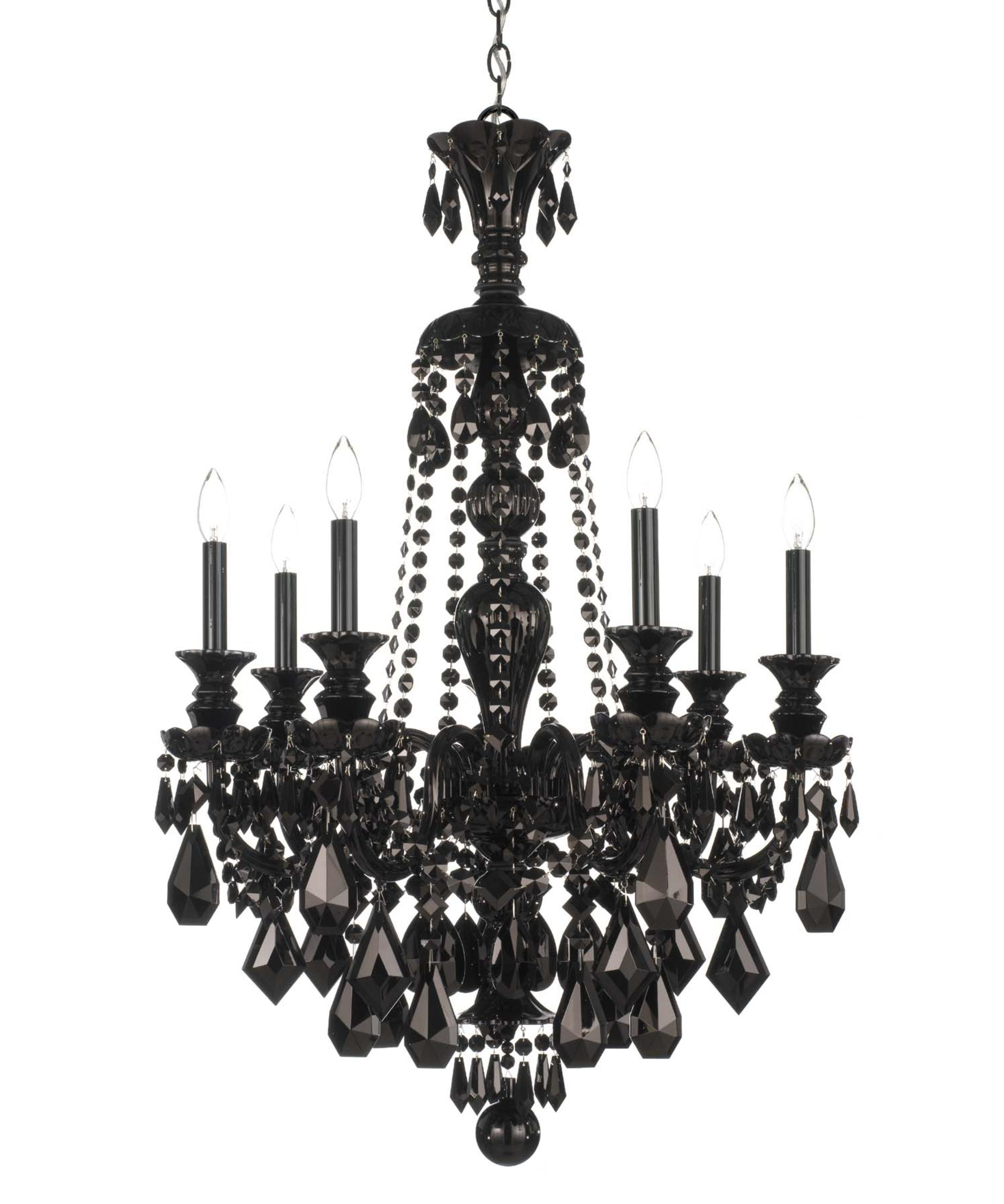 Schonbek 5706bk Hamilton Black 26 Inch Wide 7 Light Chandelier For Black Chandelier (Image 12 of 15)