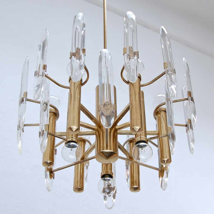 Sciolari Crystal And Brass Chandelier Vintage Chandeliers At For Crystal And Brass Chandelier (View 15 of 15)