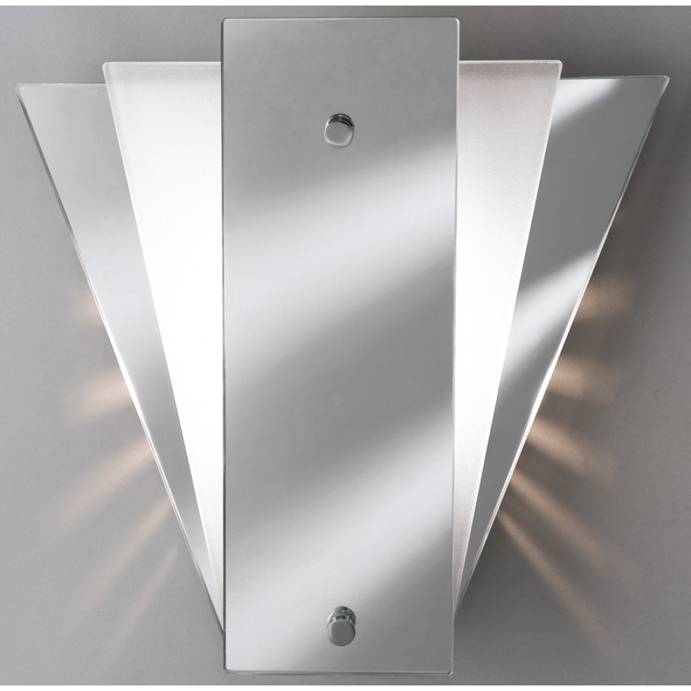Searchlight 6201 Art Deco Style Mirror Wall Light With Mirror Regarding Art Deco Style Mirror (Image 14 of 15)