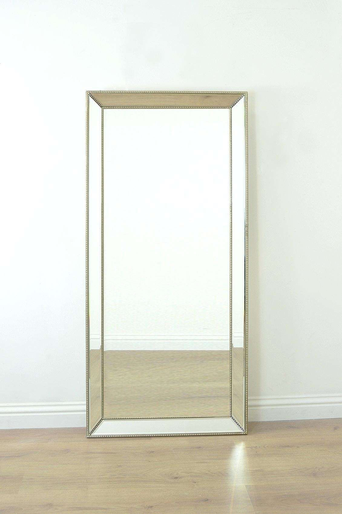 Seaside Themed Mirror Venetian Extra Large Floor Standing Regarding Extra Large Free Standing Mirror (Image 10 of 15)