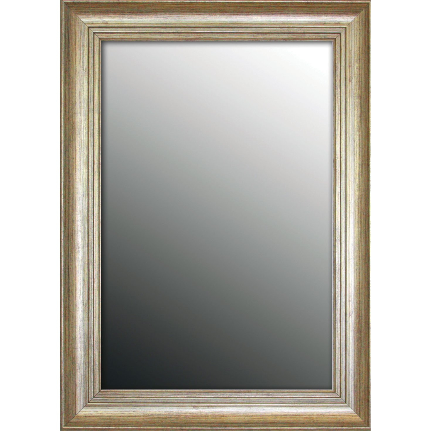 Second Look Mirrors Louis Xiv French Silver Wall Mirror Reviews Throughout Silver French Mirror (Image 12 of 15)