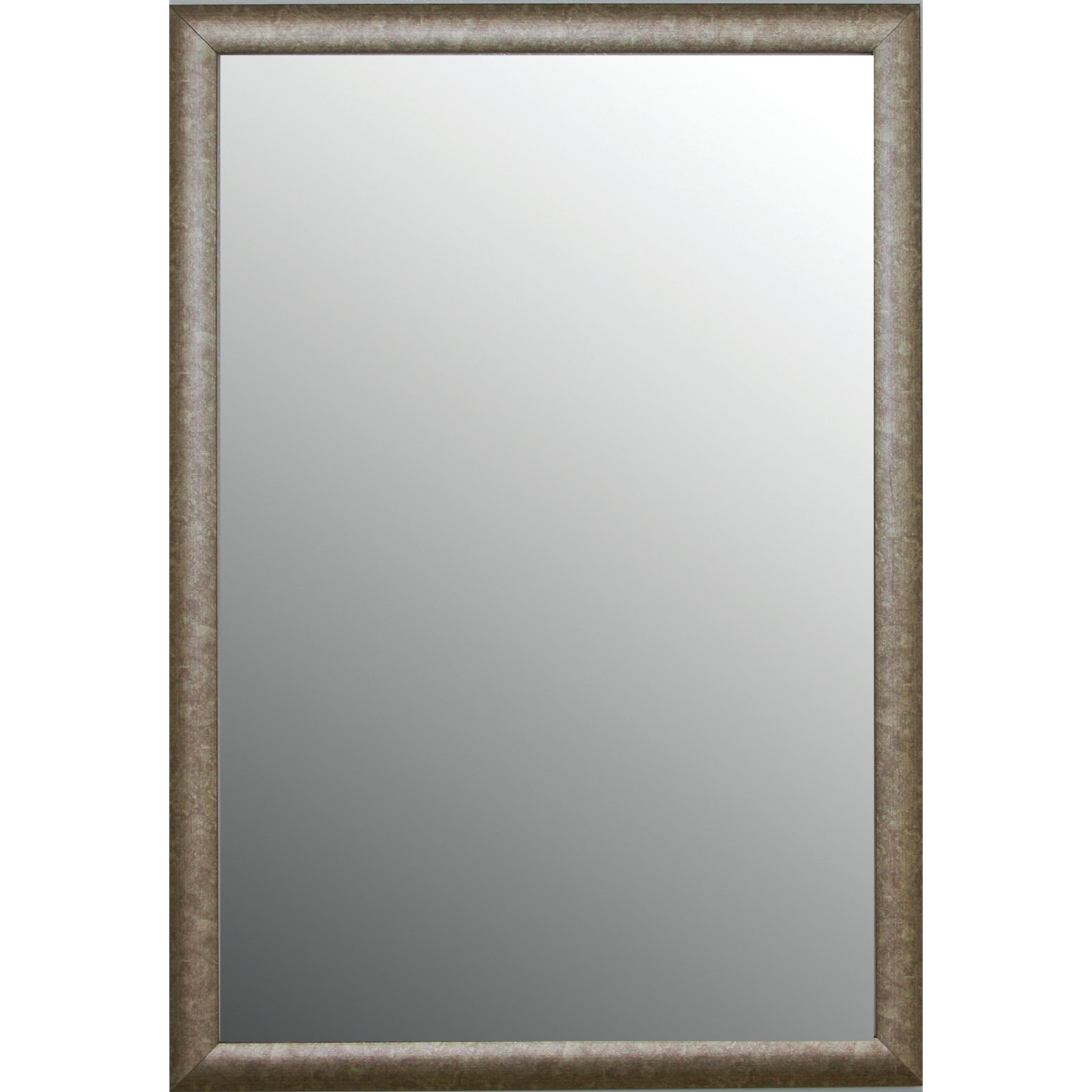Second Look Mirrors Vintage Champagne Gold With Silver Highlights With Silver Vintage Mirror (Image 6 of 15)