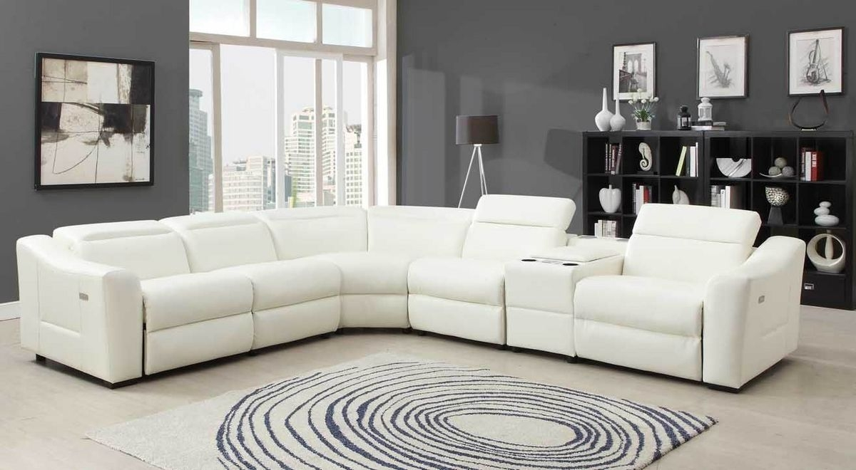 Sectional Sofa Cool Small Sectional Sofa With Recliner 44 With Pertaining To 6 Piece Leather Sectional Sofa (Image 11 of 15)