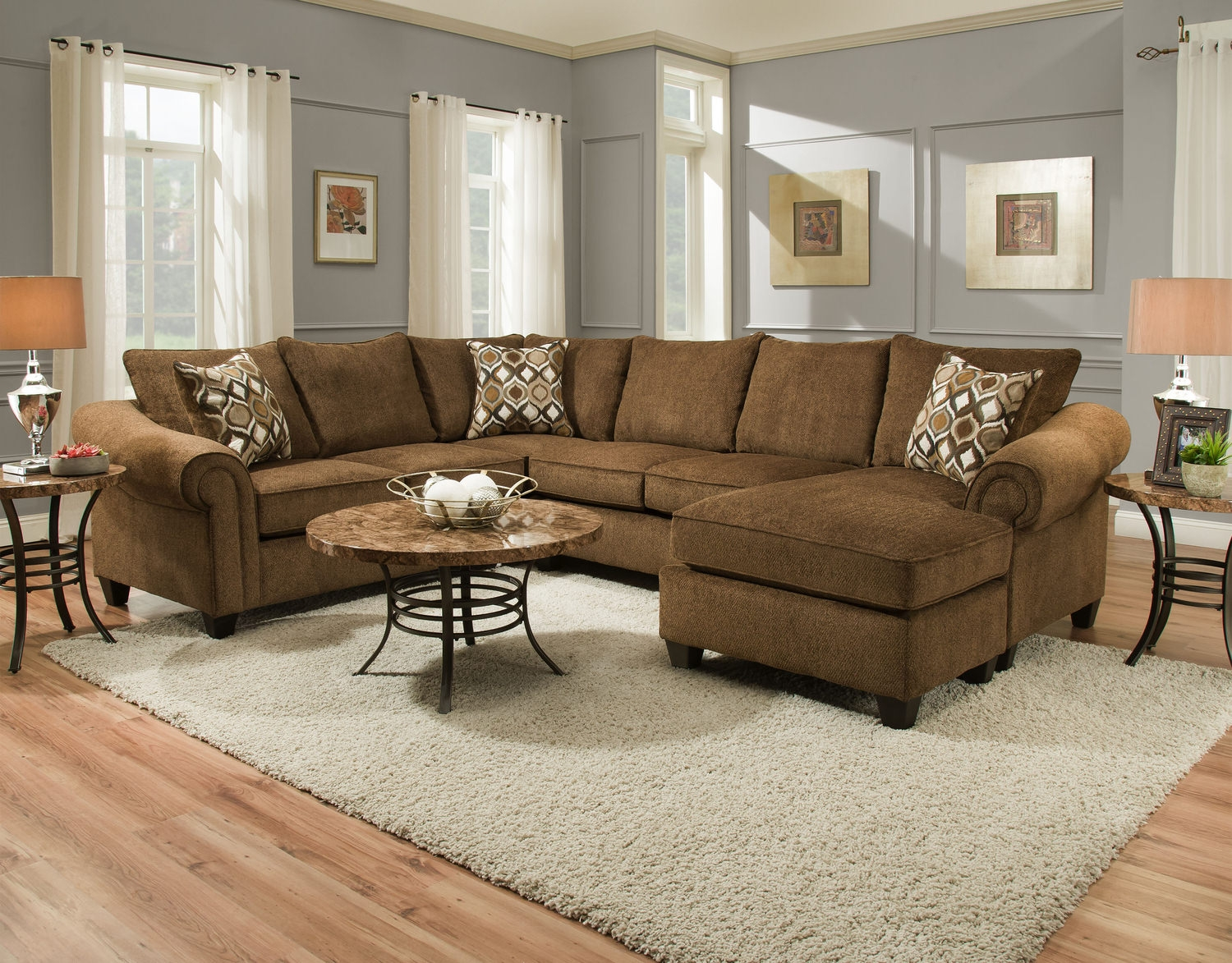 Sectional Sofas Living Room Seating Hom Furniture Inside 10 Piece Sectional Sofa (View 15 of 15)