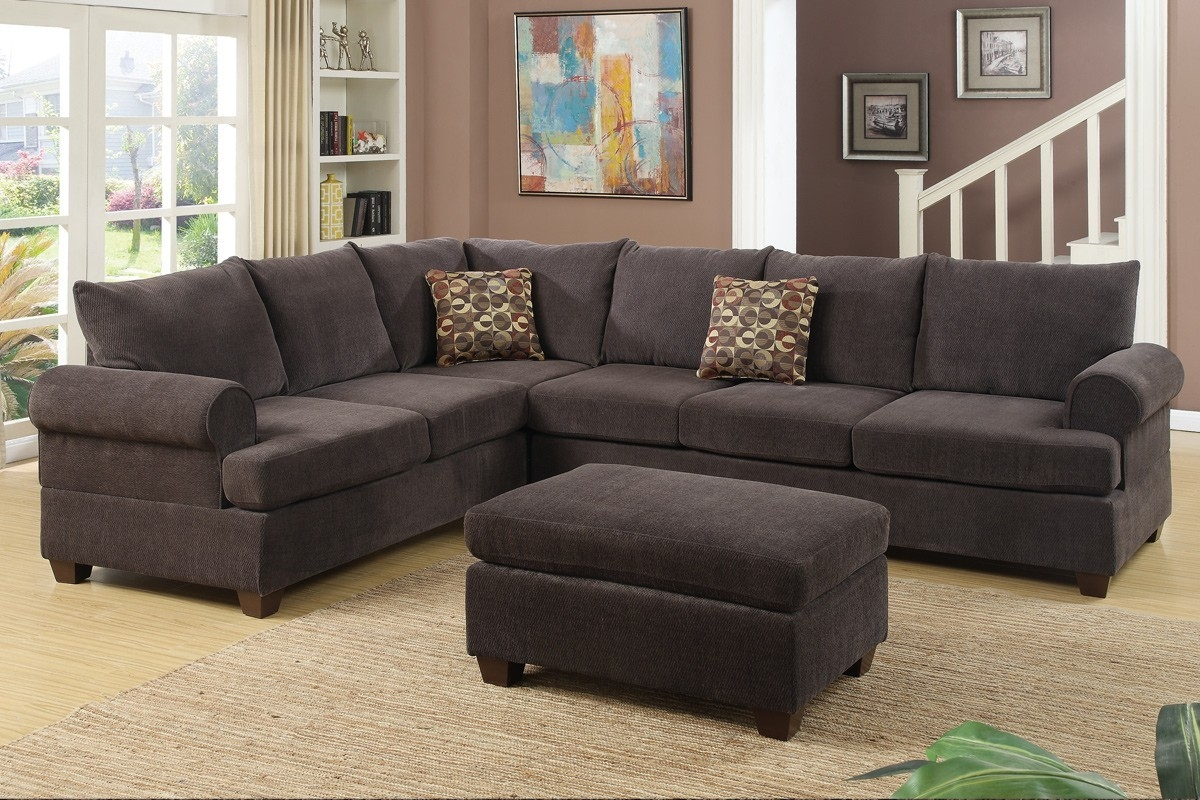 Sectional Sofas West Coast Furniture Outlet Store Within Chenille Sectional Sofas (Image 14 of 15)